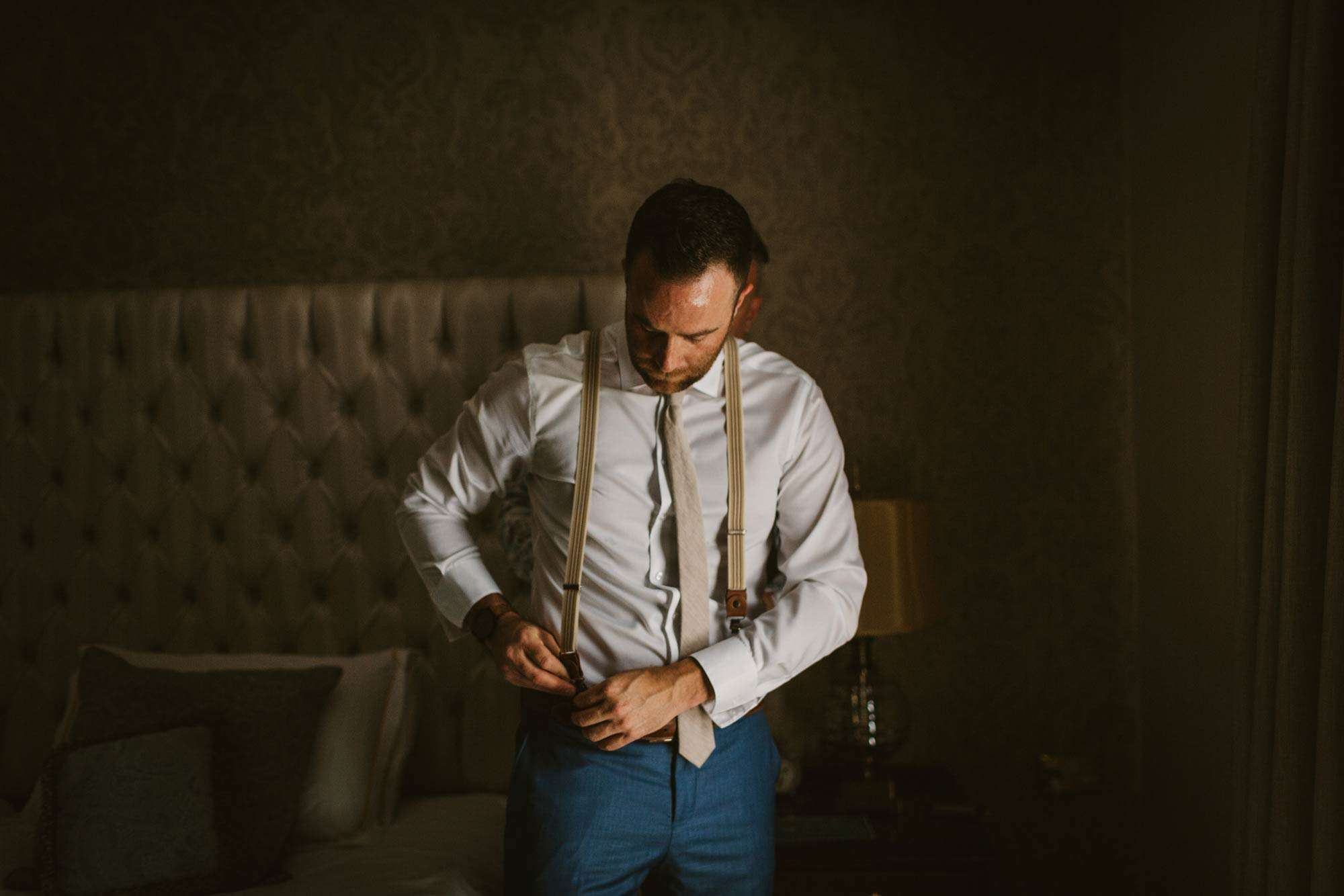 Elopement videographer Ireland, groom wearing britches