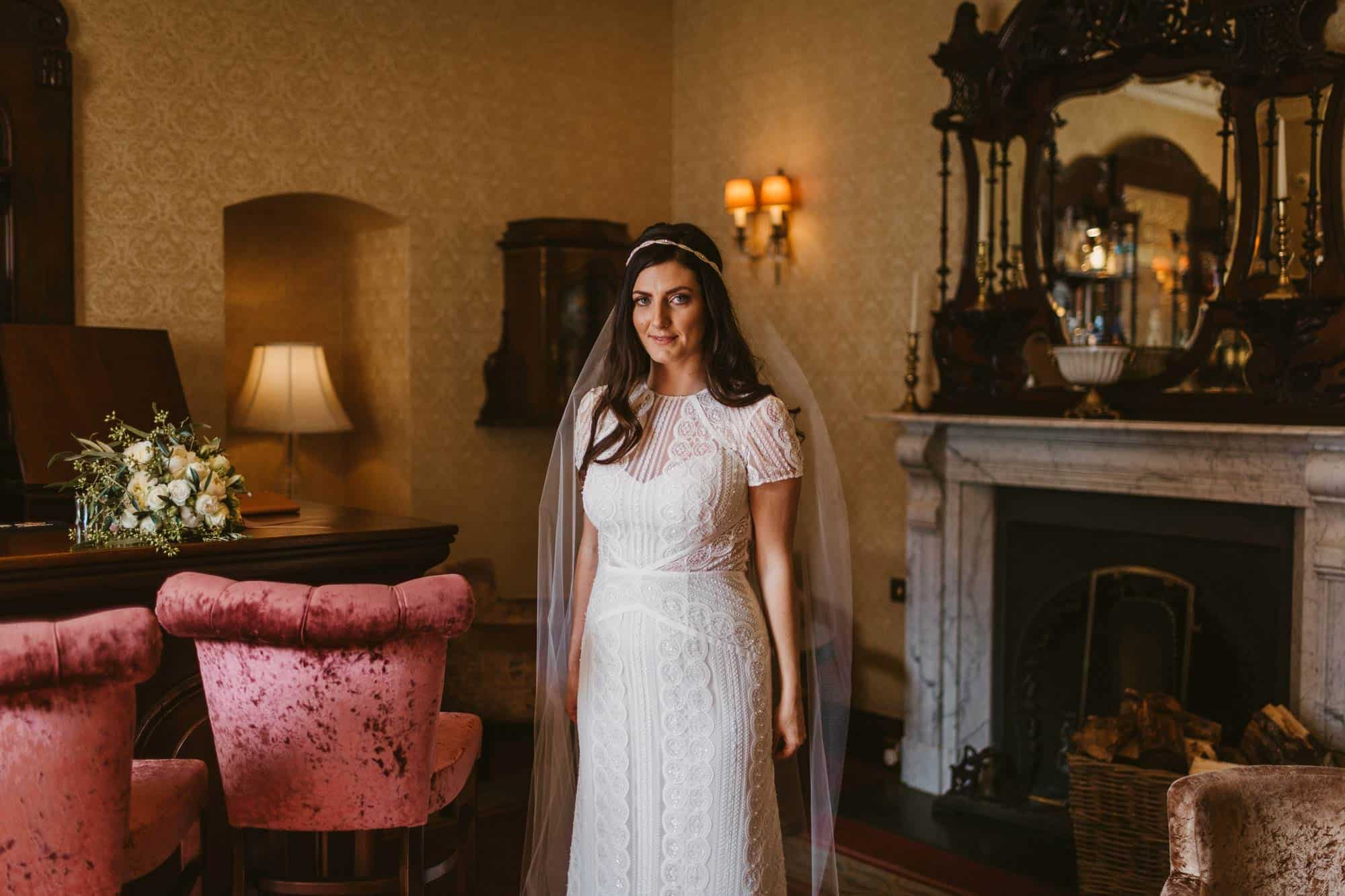 Elopement videographer Ireland, bridal portrait