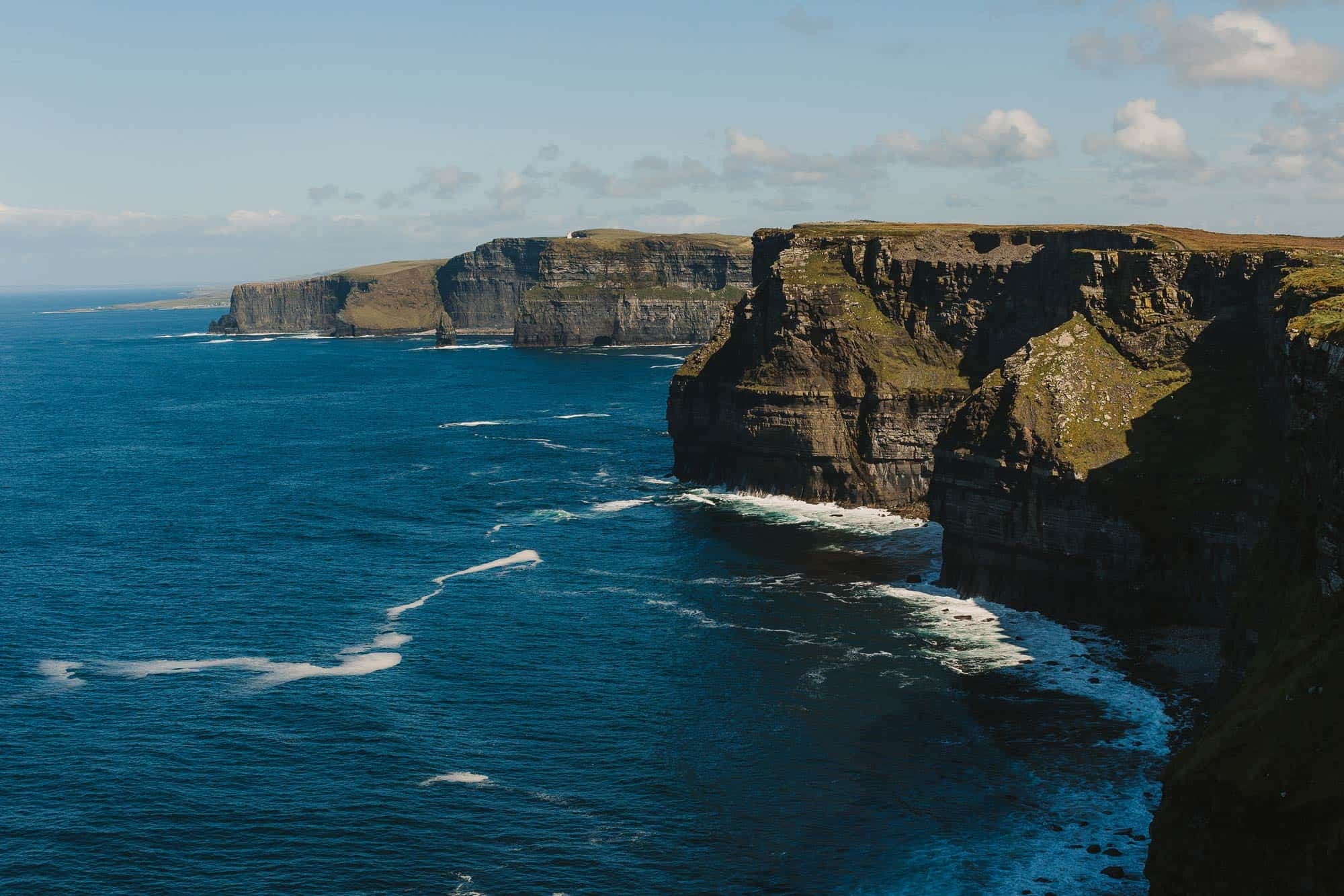 Cliffs of Moher Elopement Cliff Shot, for using as cover of elopement film of D & K