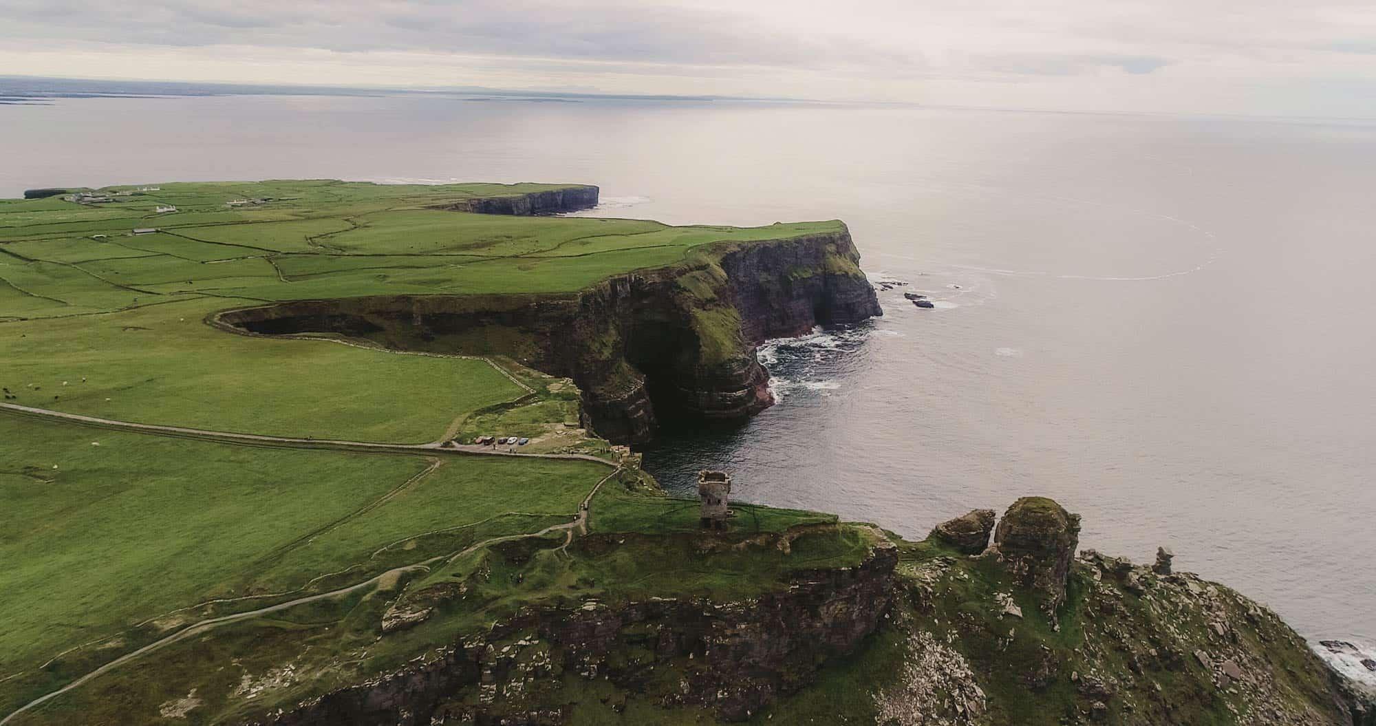 Cliffs of Moher Elopement Drone Shot Hags Head