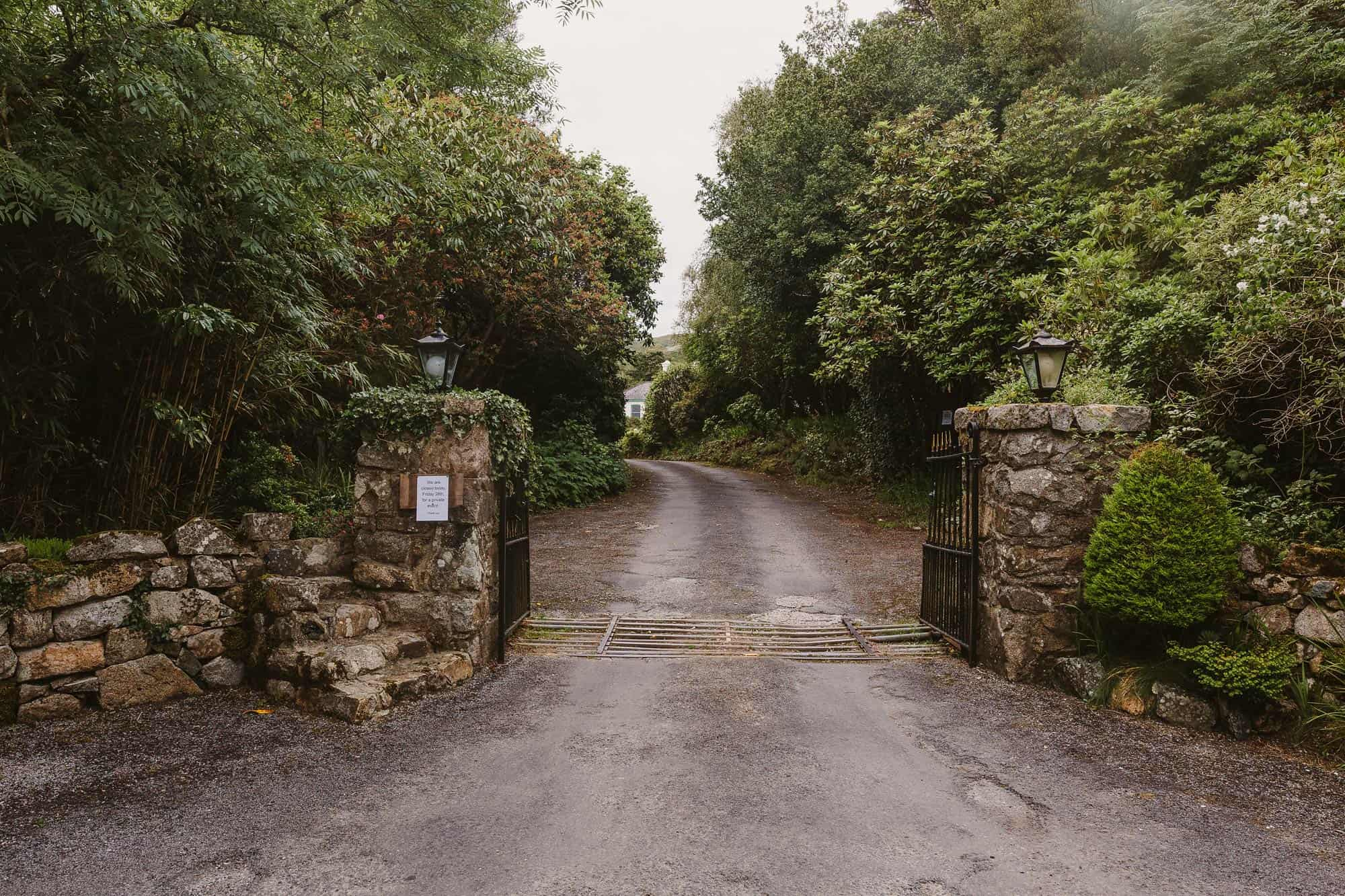Elopement Ireland Connemara Entrance to manor house