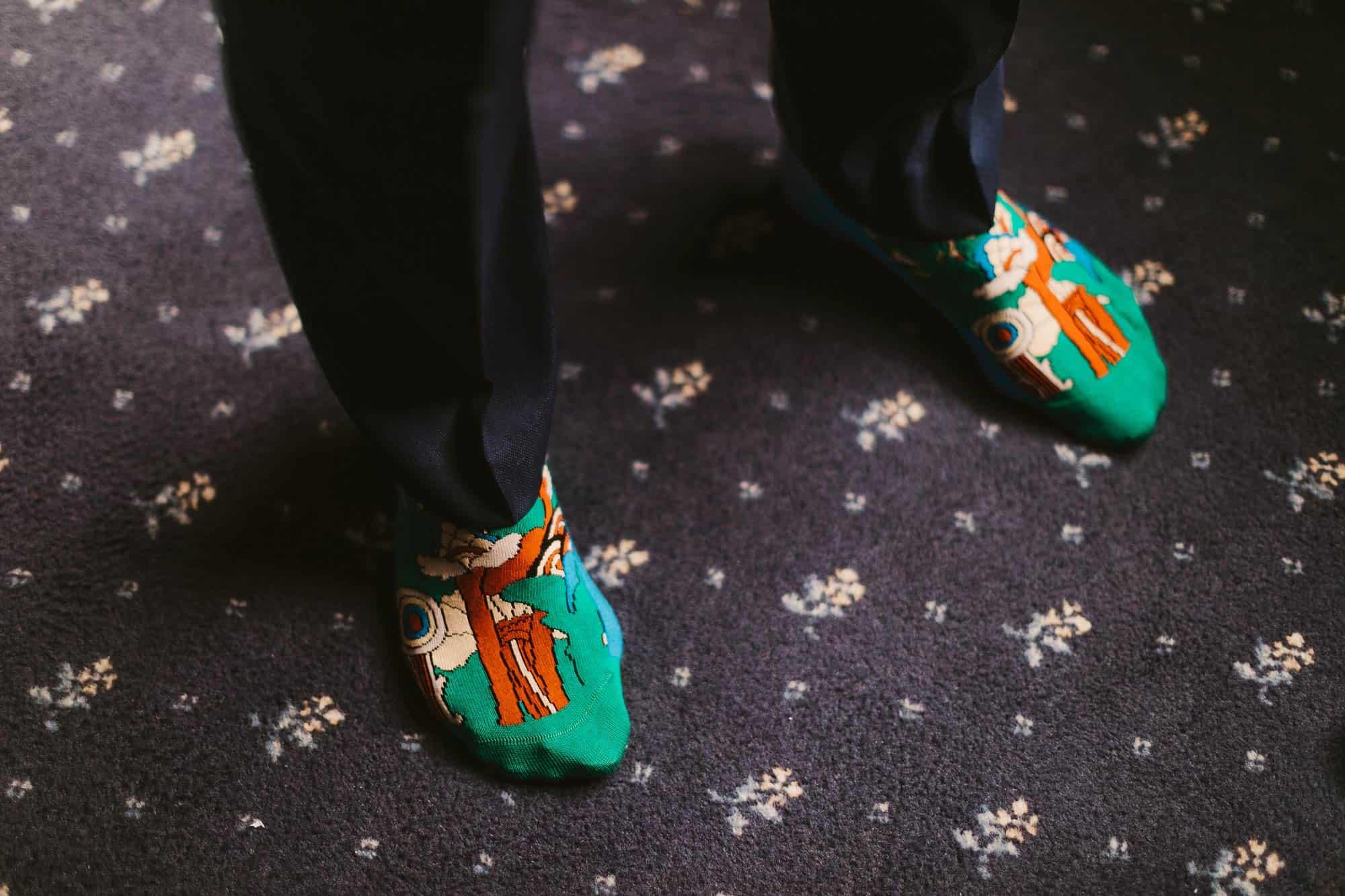 Elopement Ireland Connemara Groom Socks