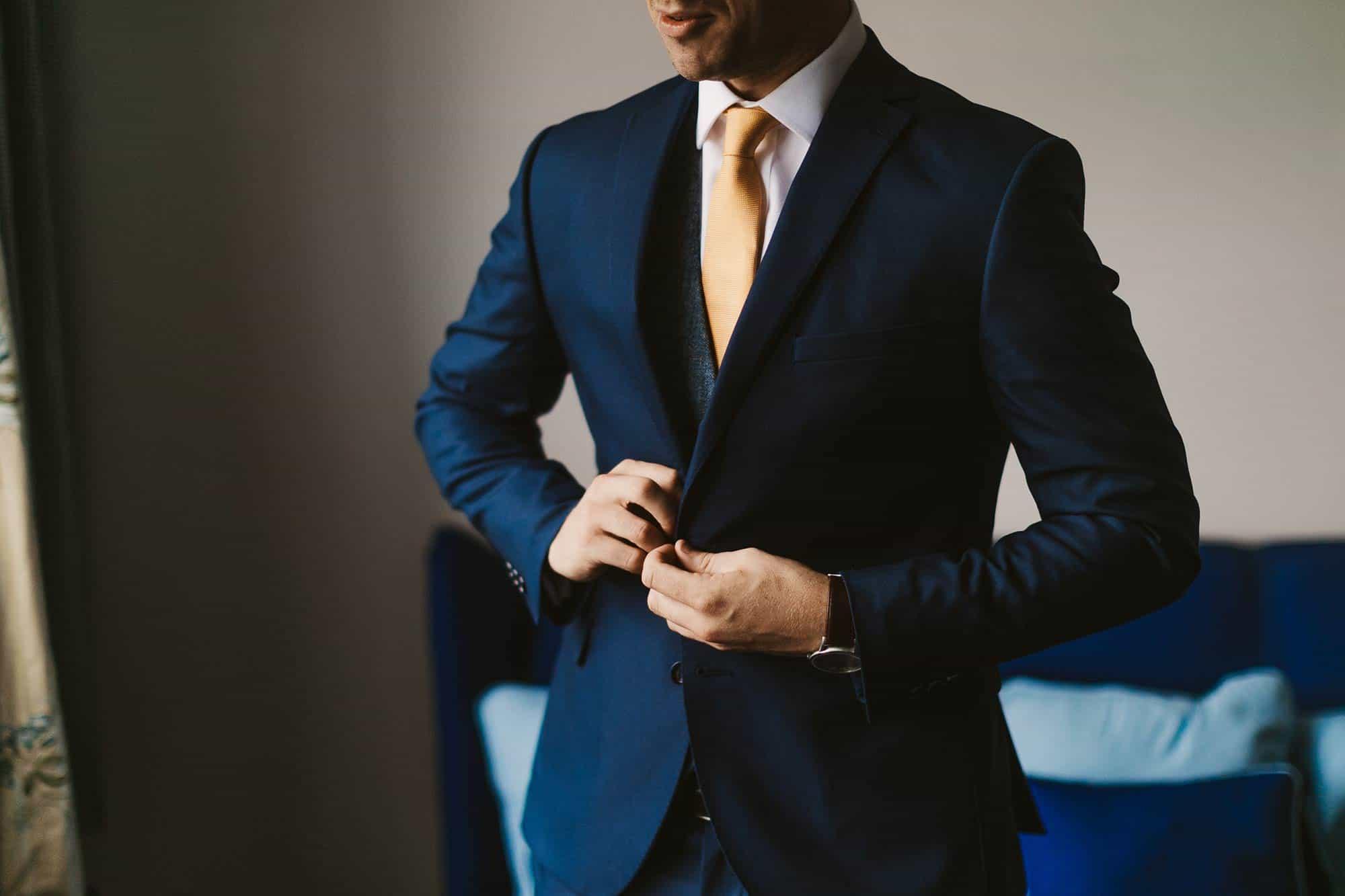 Elopement Ireland Connemara Groom Suit