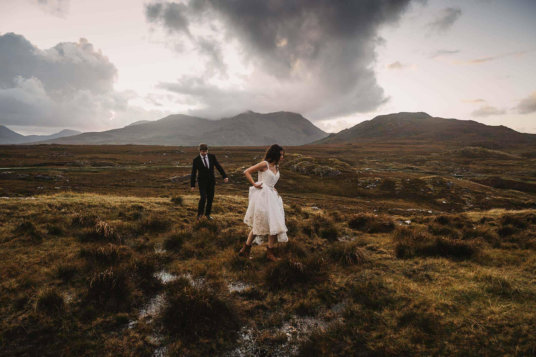 Destination Weddings Ireland Connemara Boglands Bride