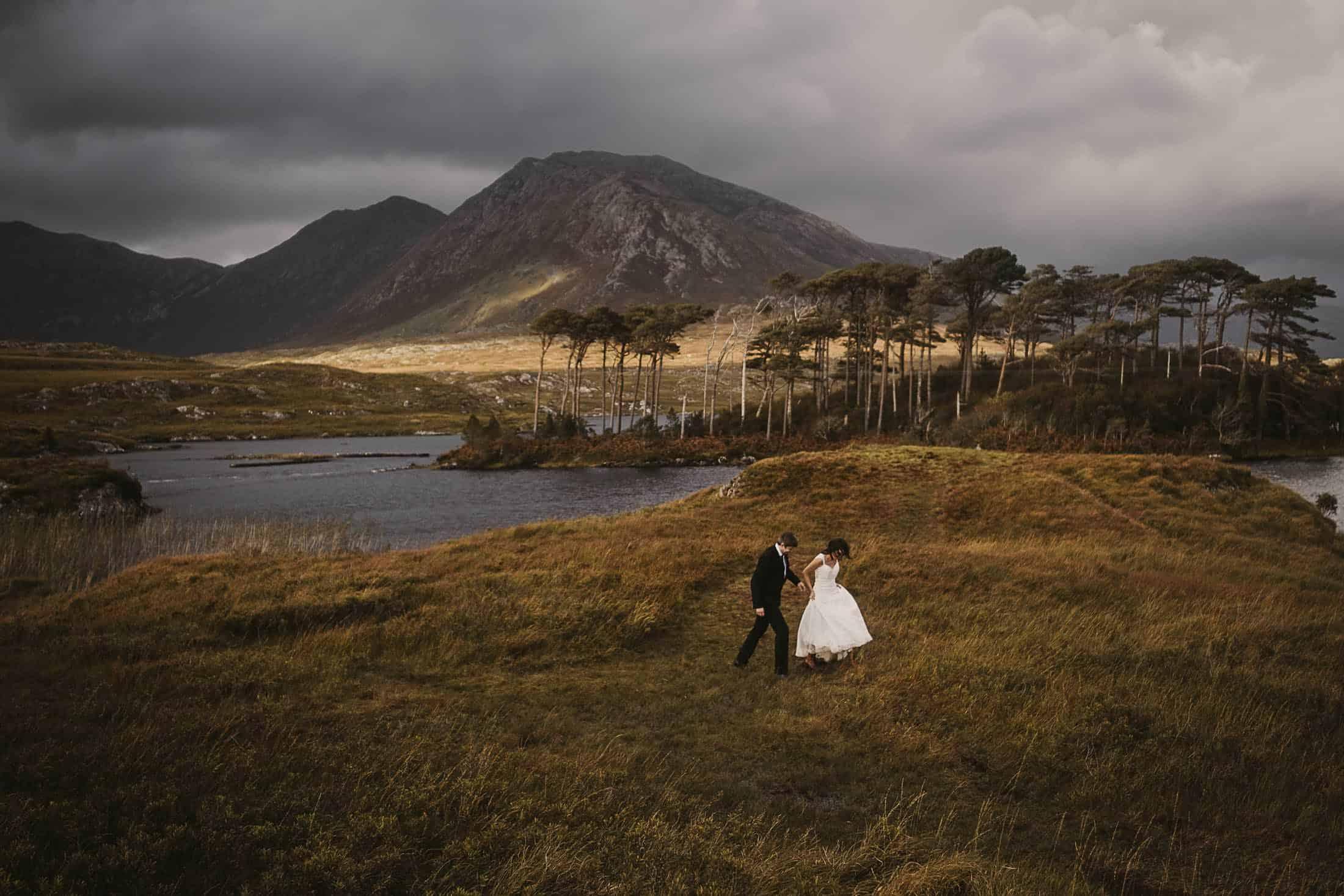 Destination Weddings Ireland Connemara Bride Hiking
