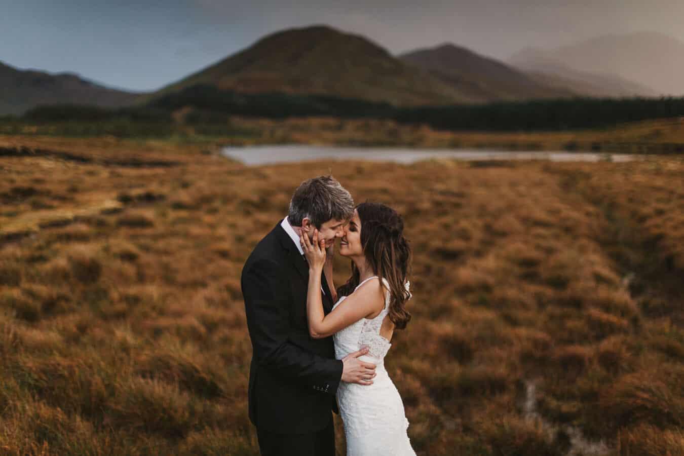 Destination Weddings Ireland Connemara First Kiss