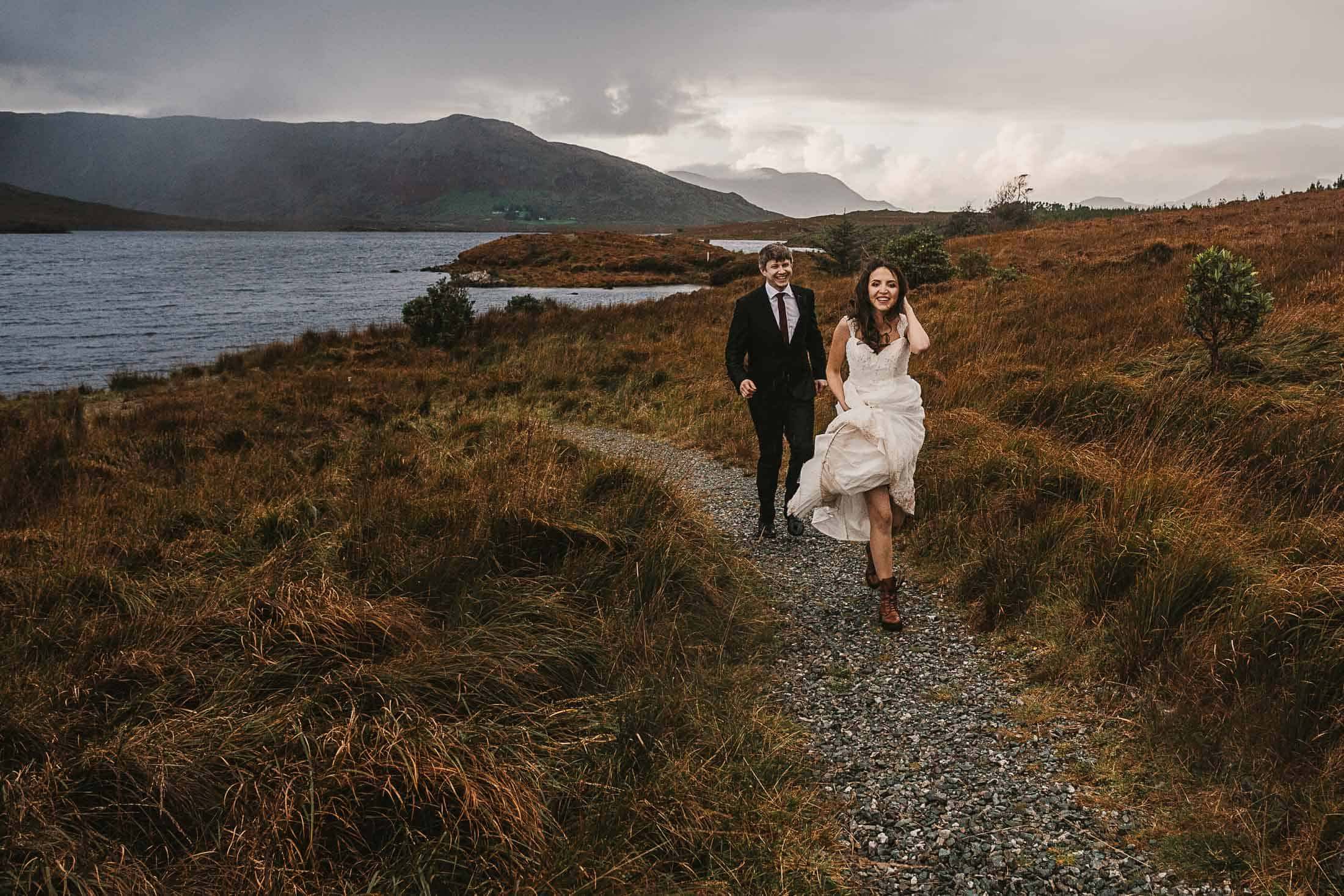 Destination Weddings Ireland Connemara Outdoor Bride