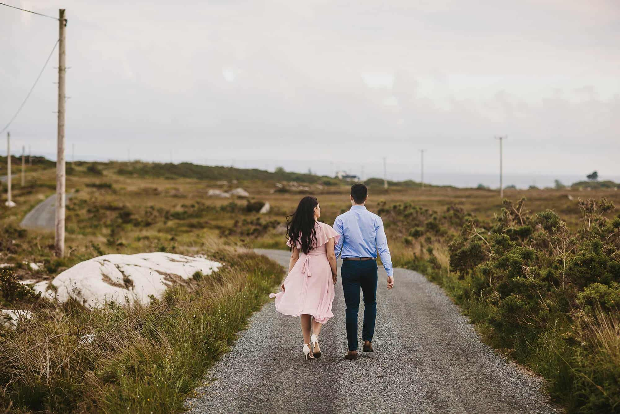 Elopement Photography Ireland Country Road