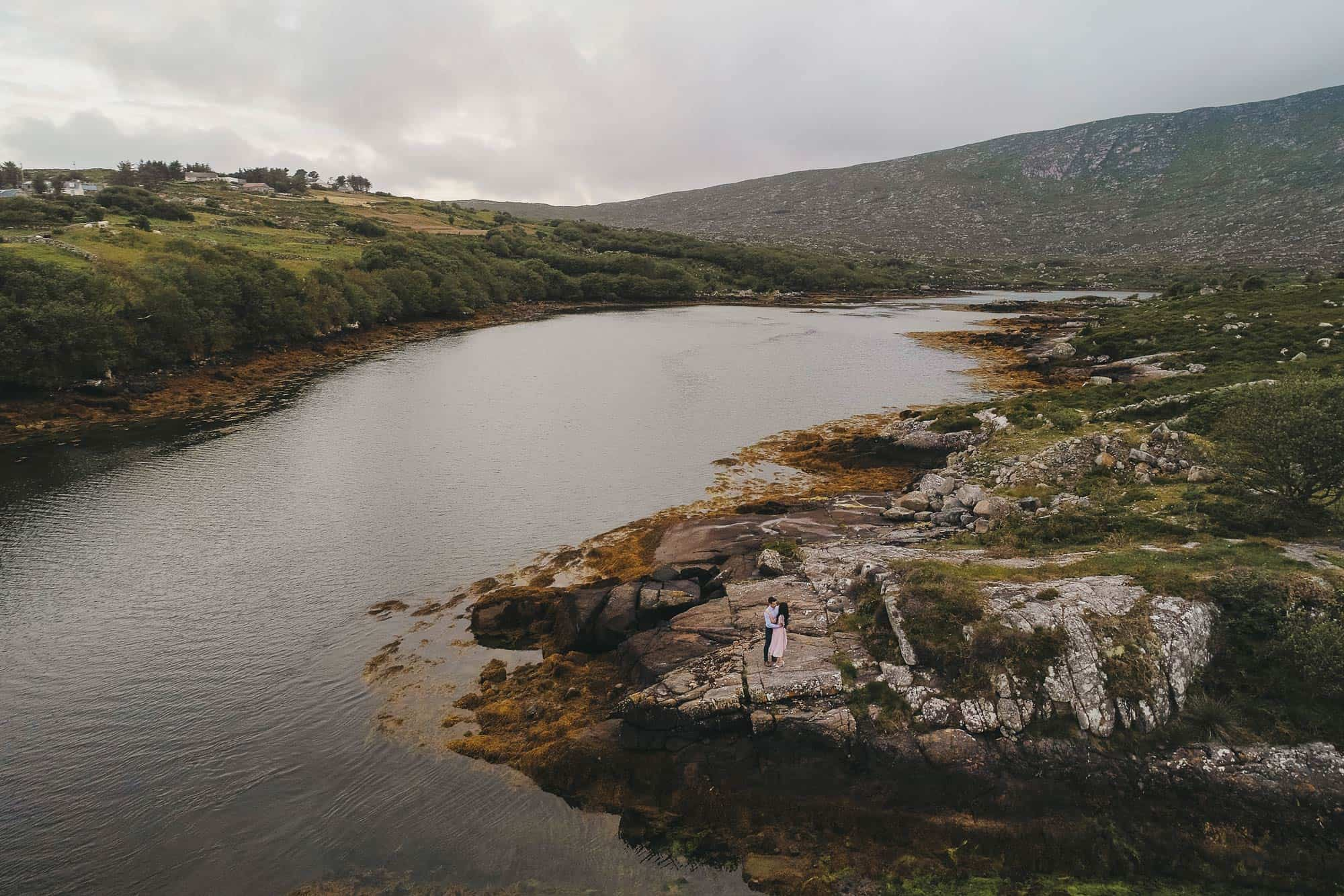 Elopement Photography Ireland Drone