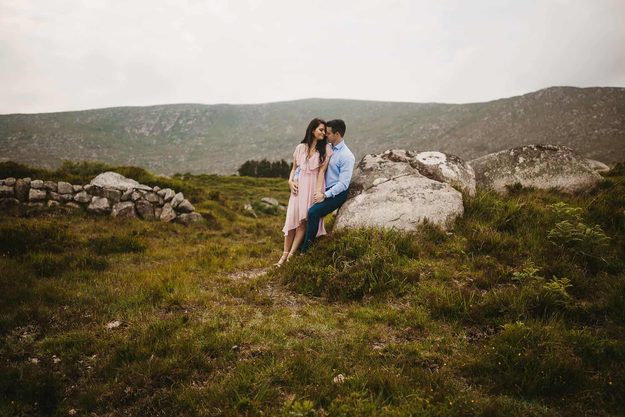 Elopement Photography Ireland Hiking in Sandals