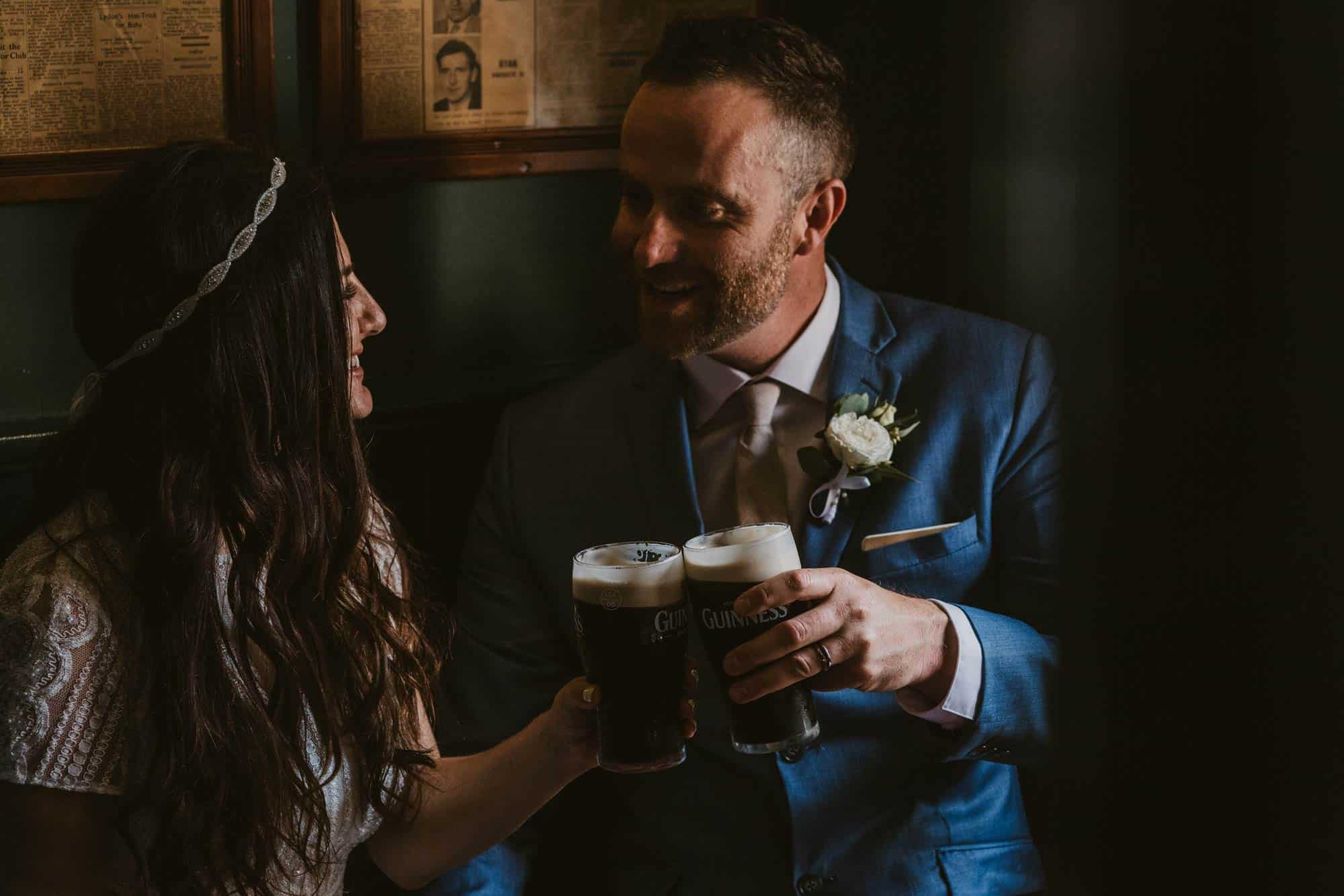 Elopement videographer Ireland, couple cheers