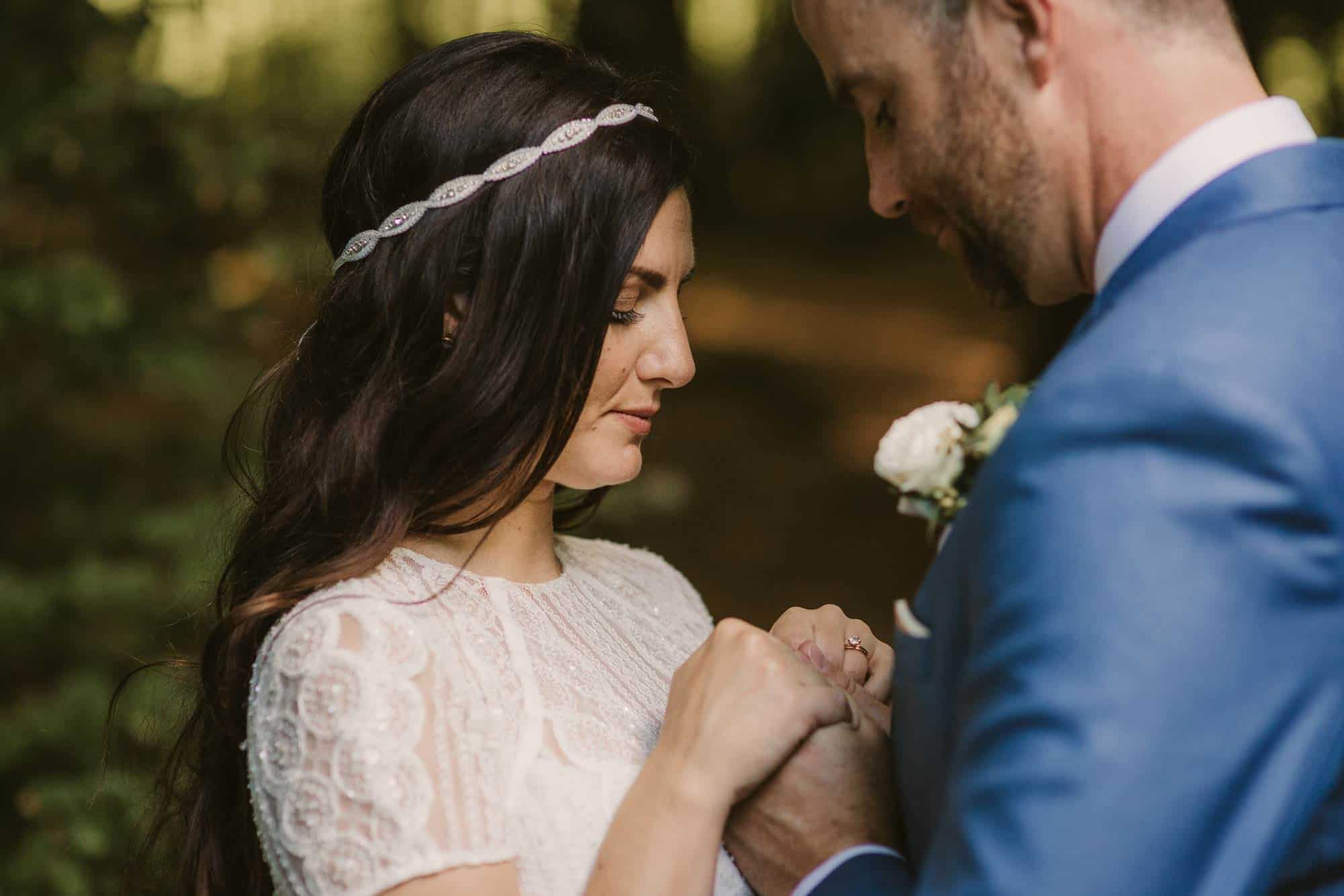 Elopement videographer Ireland, emotional bride