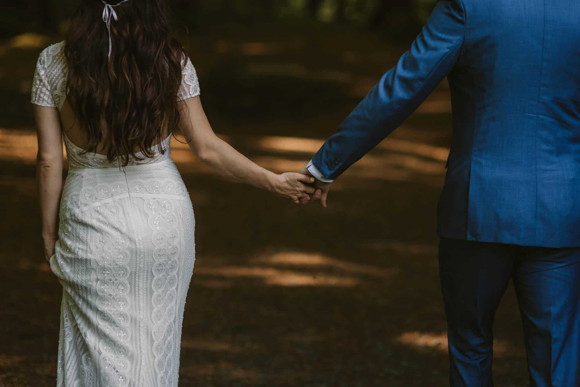 Elopement videographer Ireland, holding hands