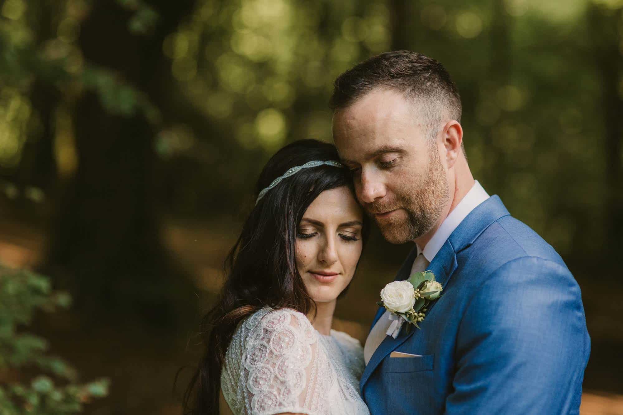 Elopement videographer Ireland, eyes closed