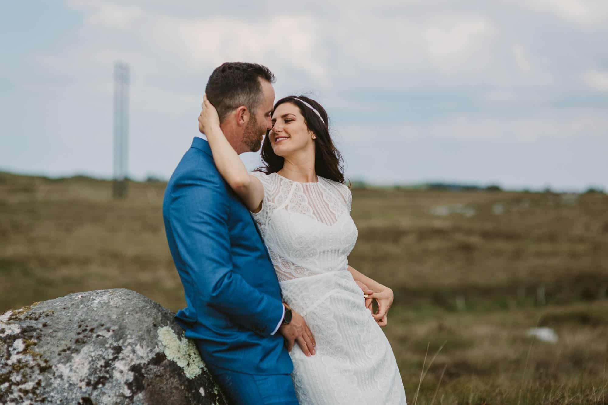 Elopement videographer Ireland, bide turns back to kiss groom