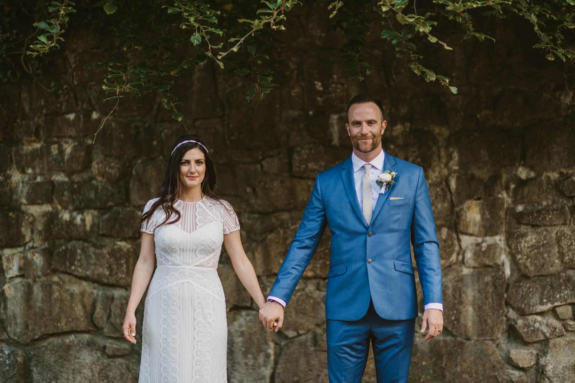Elopement videographer Ireland, couple smile at camera