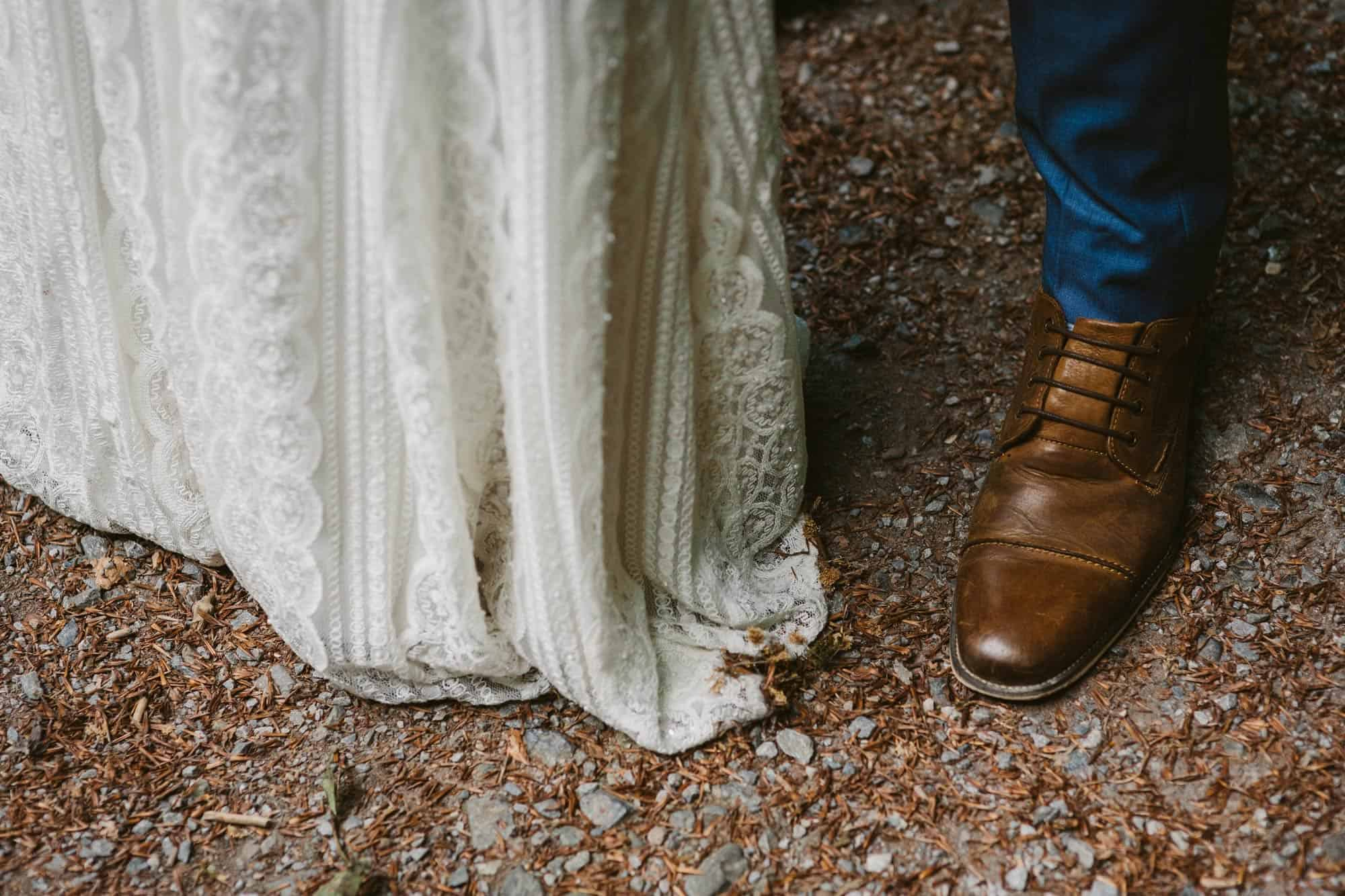Elopement videographer Ireland, couple shoes