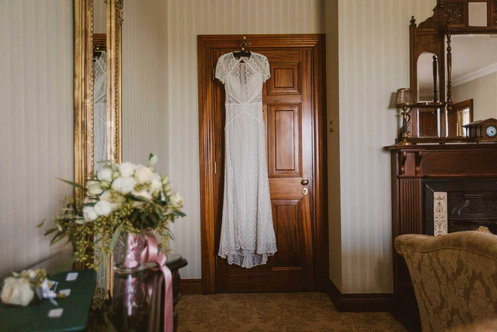 Elopement videographer Ireland, wedding dress vintage