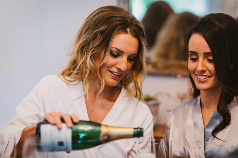 Ireland Castle Elopement Champagne