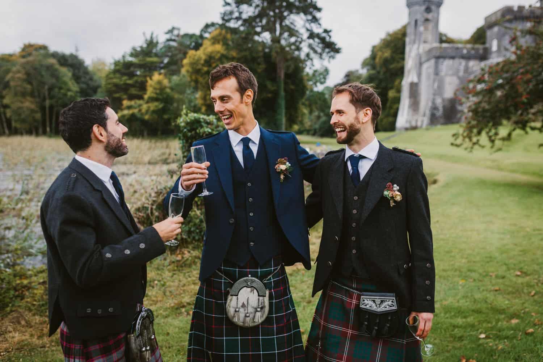 Ireland Castle Elopement Groom Fun