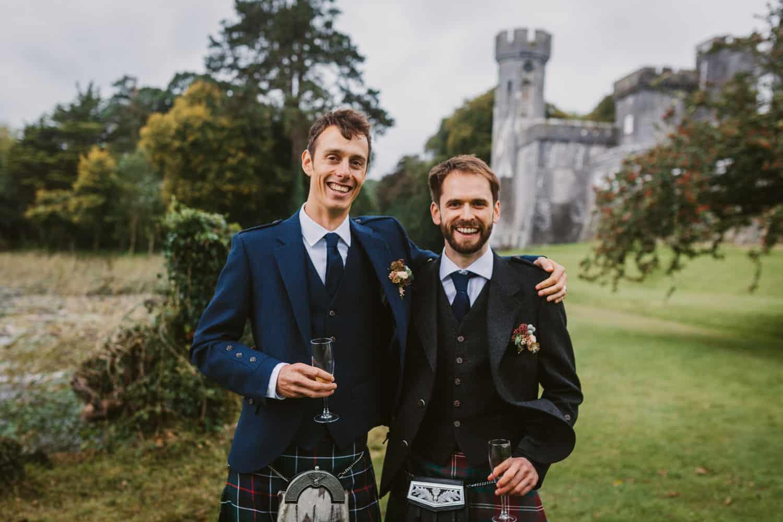Ireland Castle Elopement Groom Style