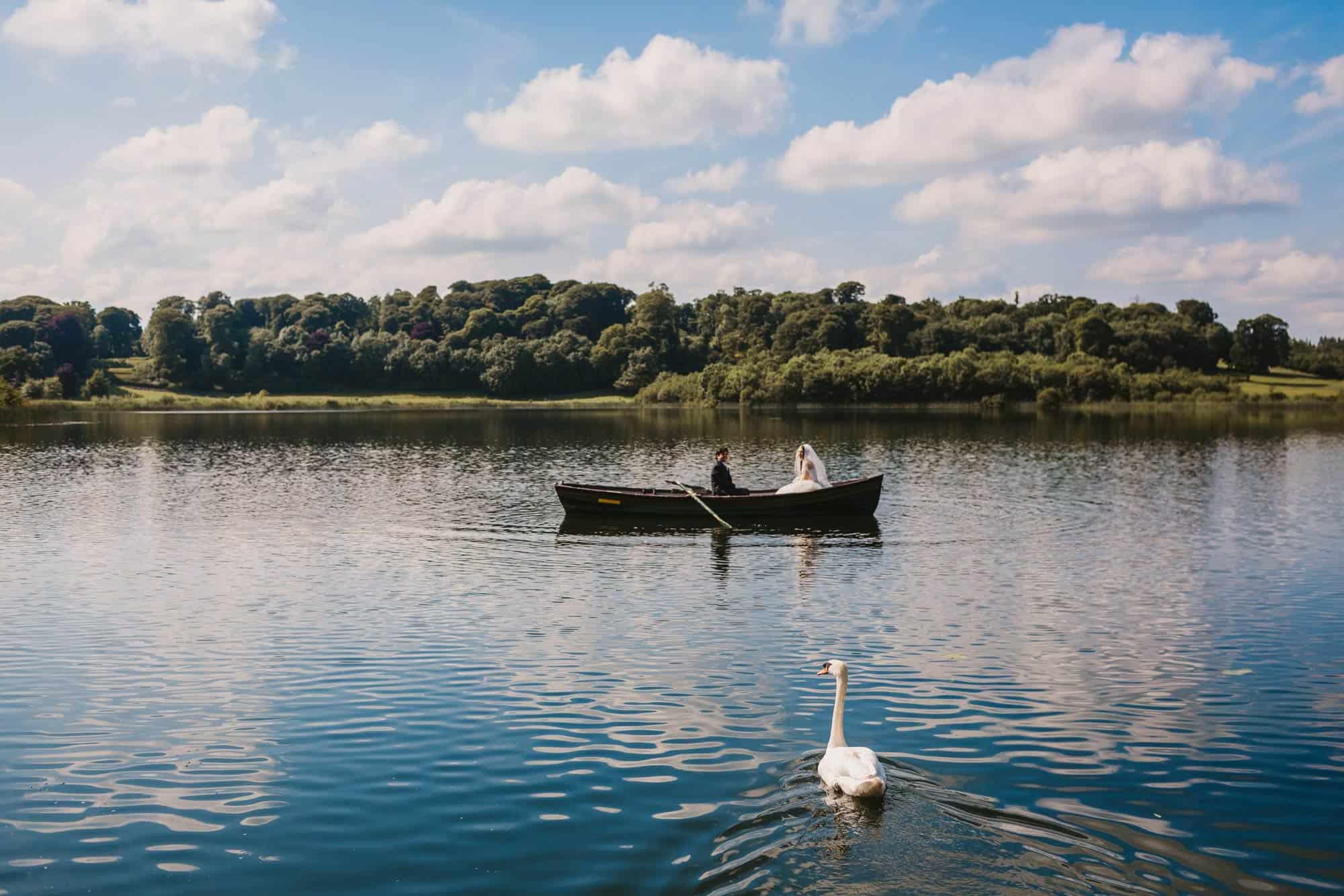 Dromoland Castle Ireland, couple still on boat
