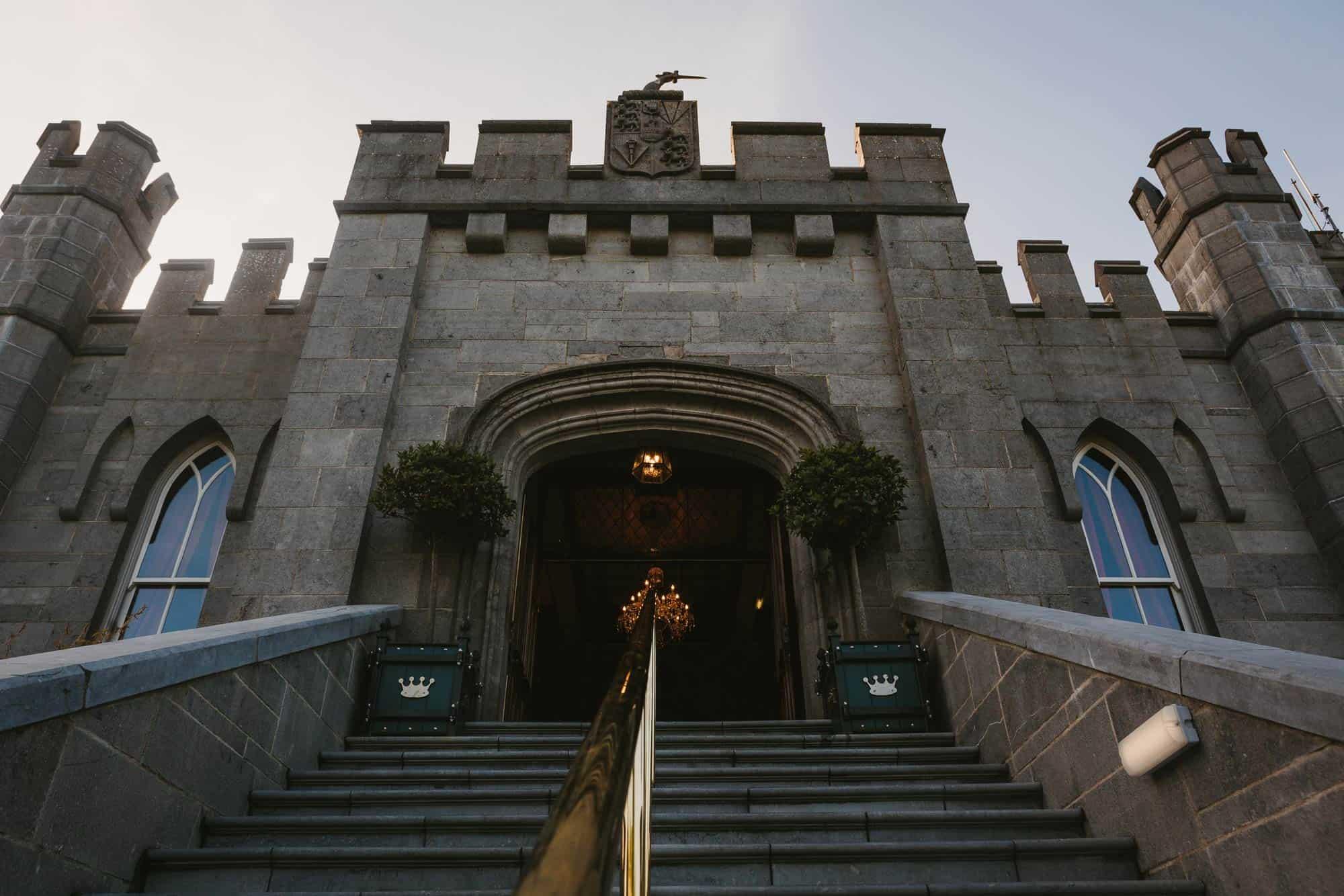 entrance to Dromoland Castle Ireland