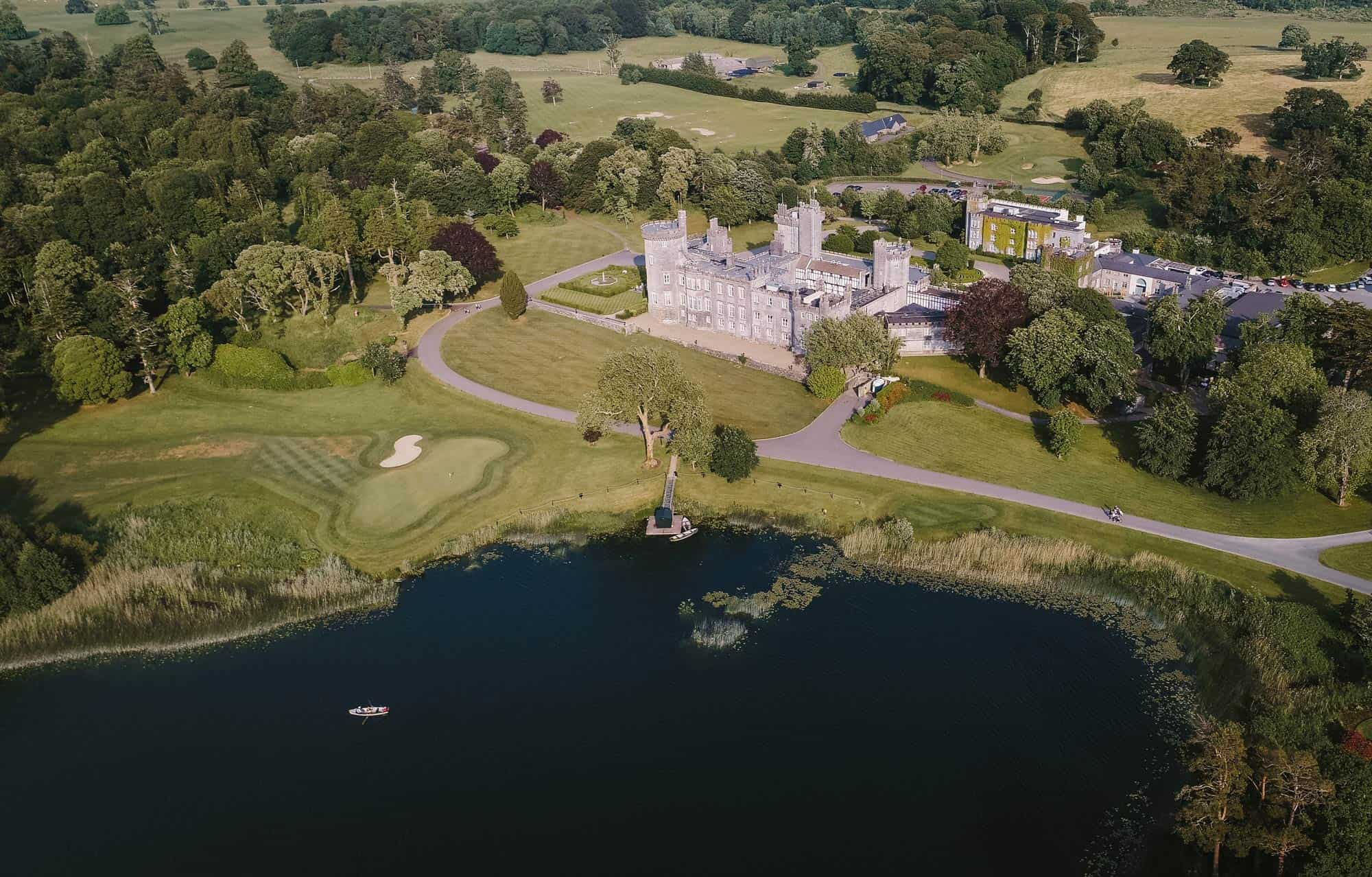 shot of castle from done, Dromoland Castle Ireland