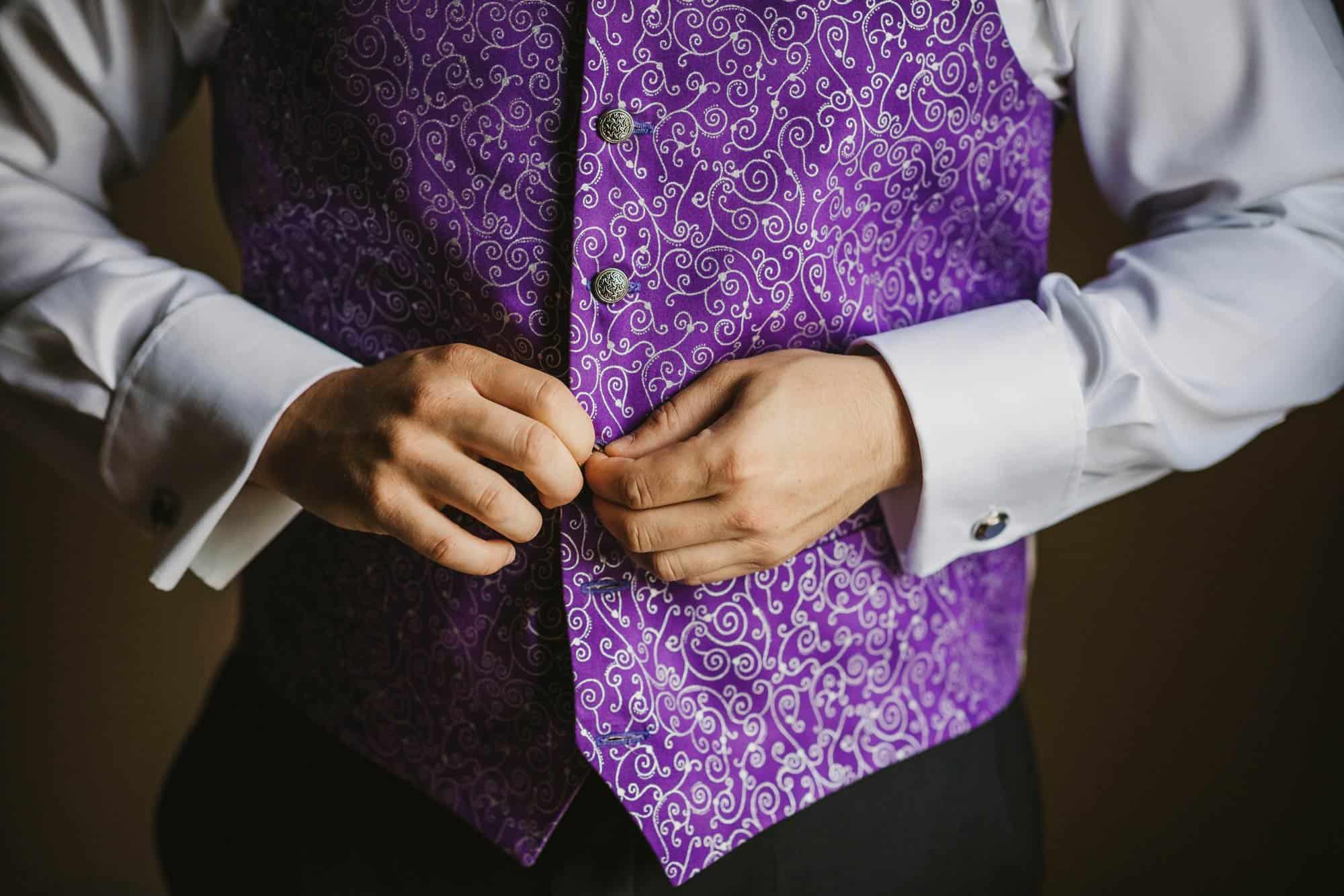 Dromoland Castle Ireland, purple waistcoat