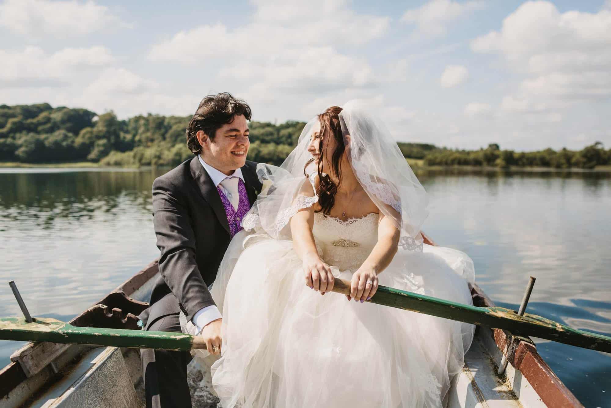 Dromoland Castle Ireland, couple rowing together
