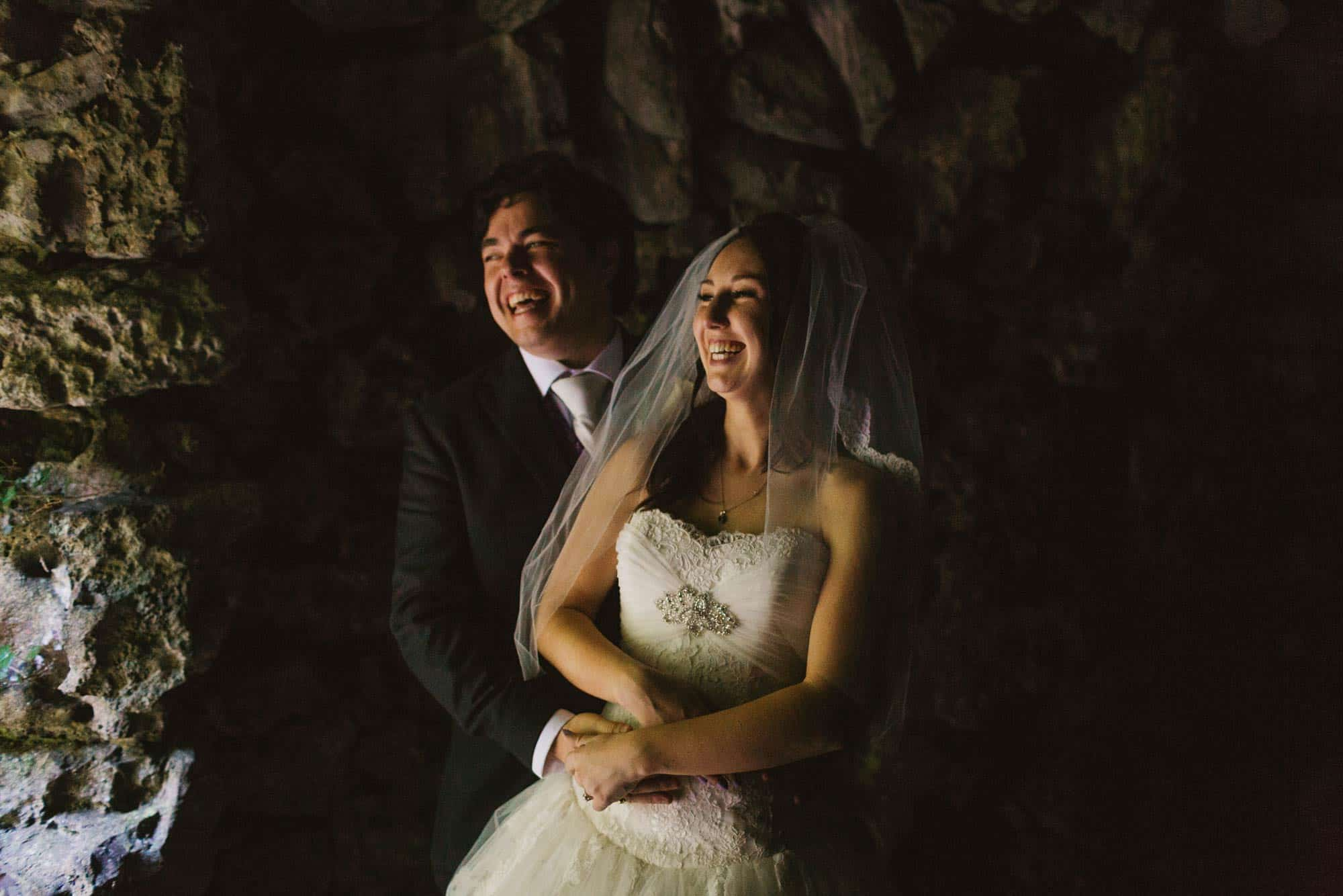 Dromoland Castle Ireland, lowlight , couple are laughing