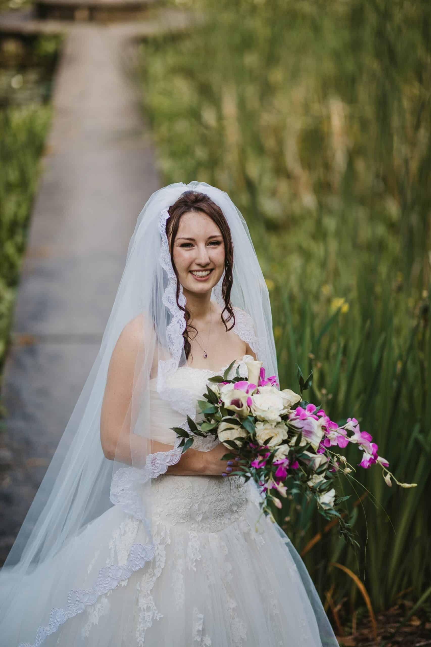 Dromoland Castle Ireland, bride on the grounds