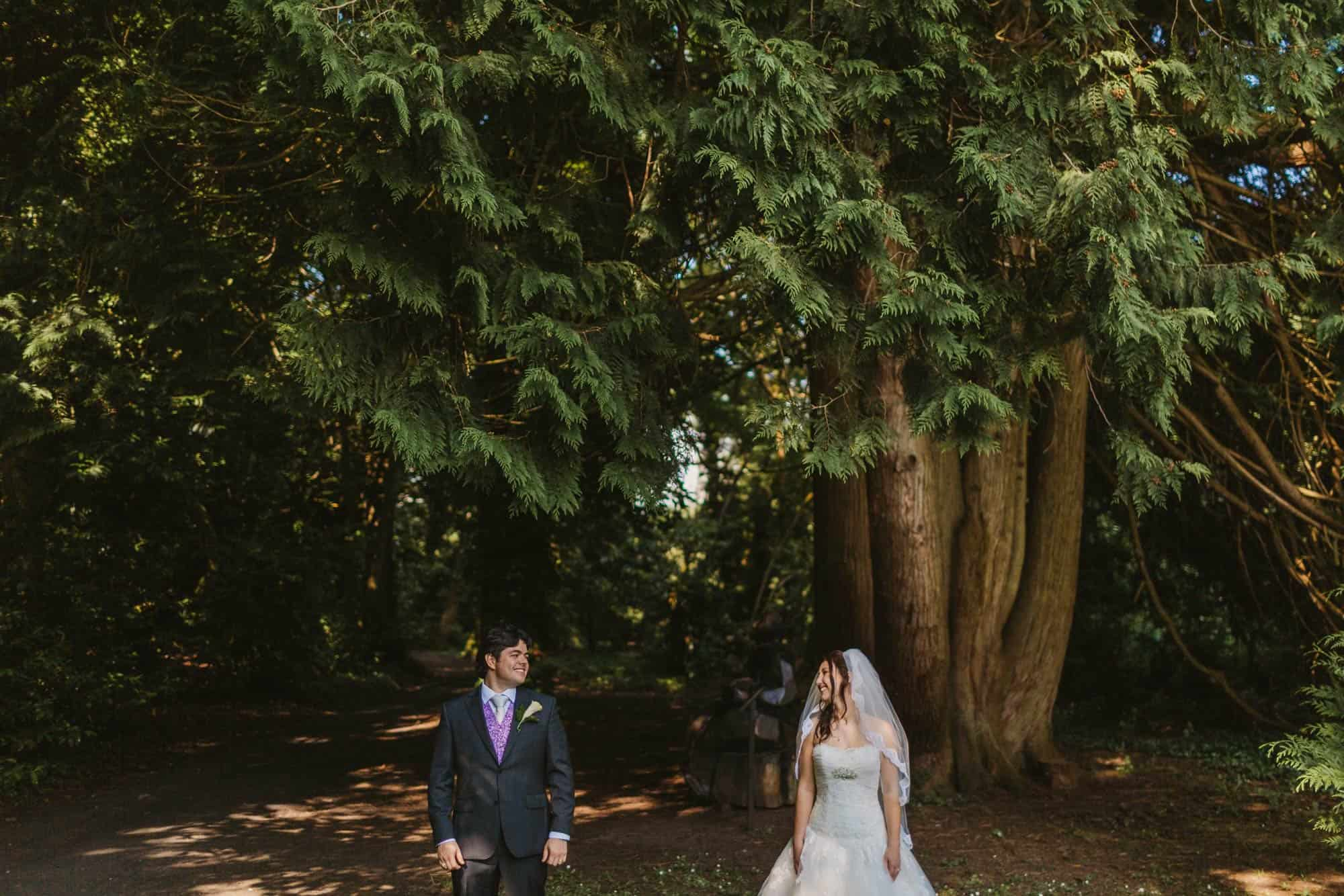 Dromoland Castle Ireland, couple in forest