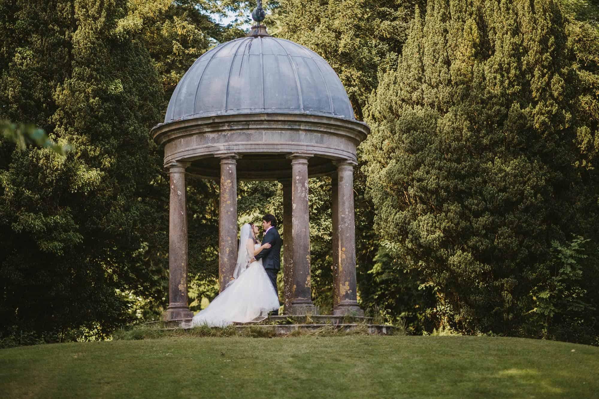 Dromoland Castle Ireland, couple on bandstand
