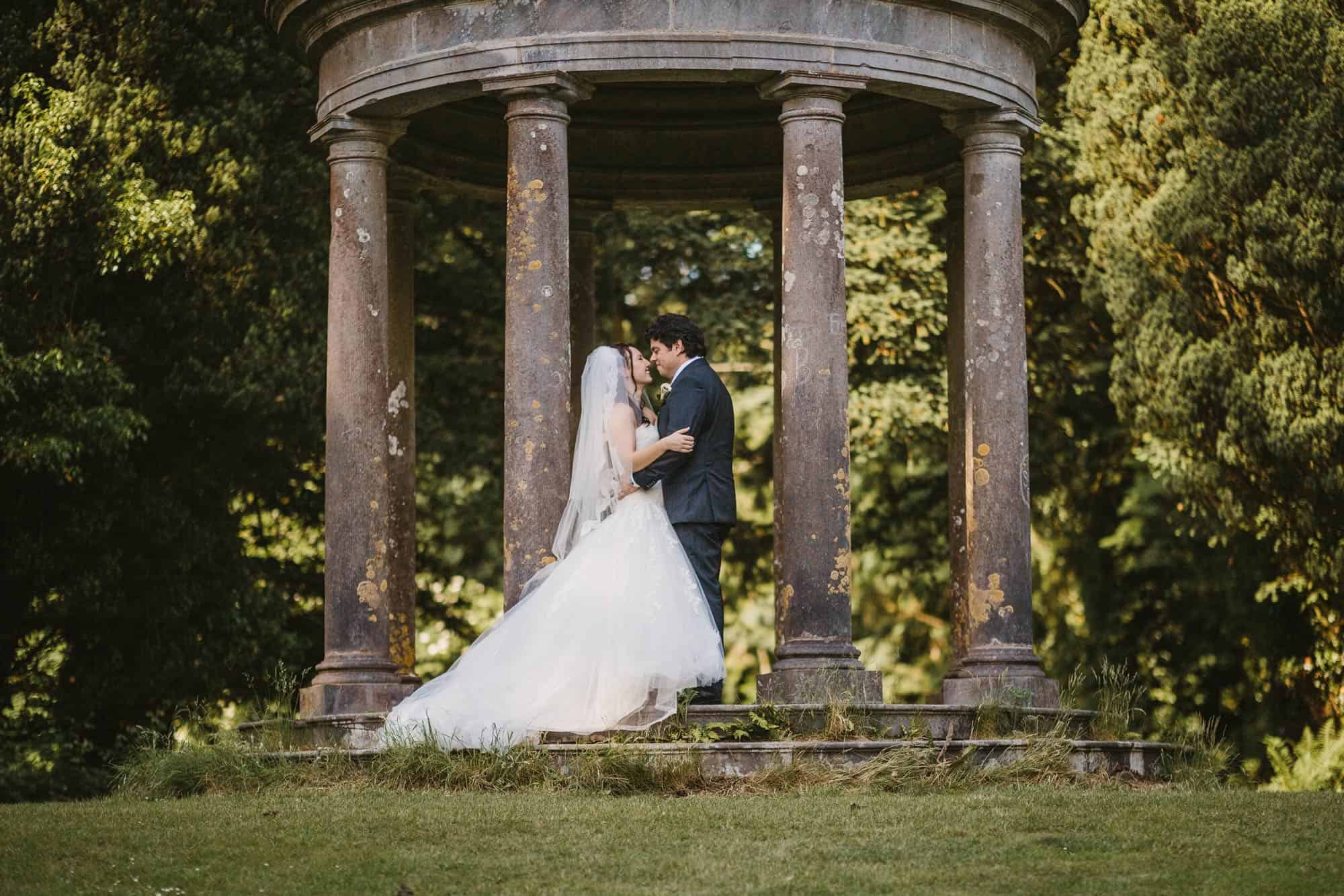 Dromoland Castle Ireland, couple on the grounds hugging