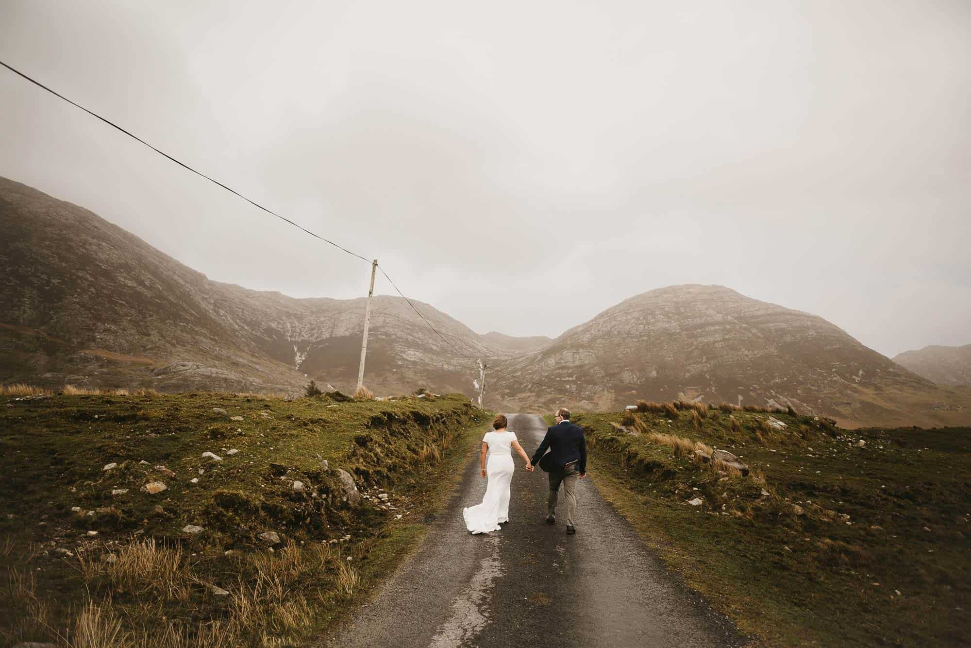 Planning for Elopements in Ireland Country road