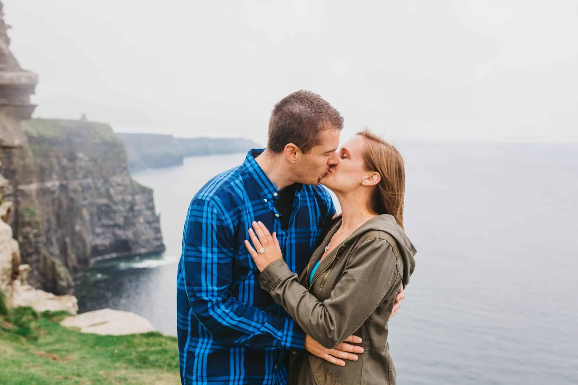 Proposal shoot Ireland First Kiss