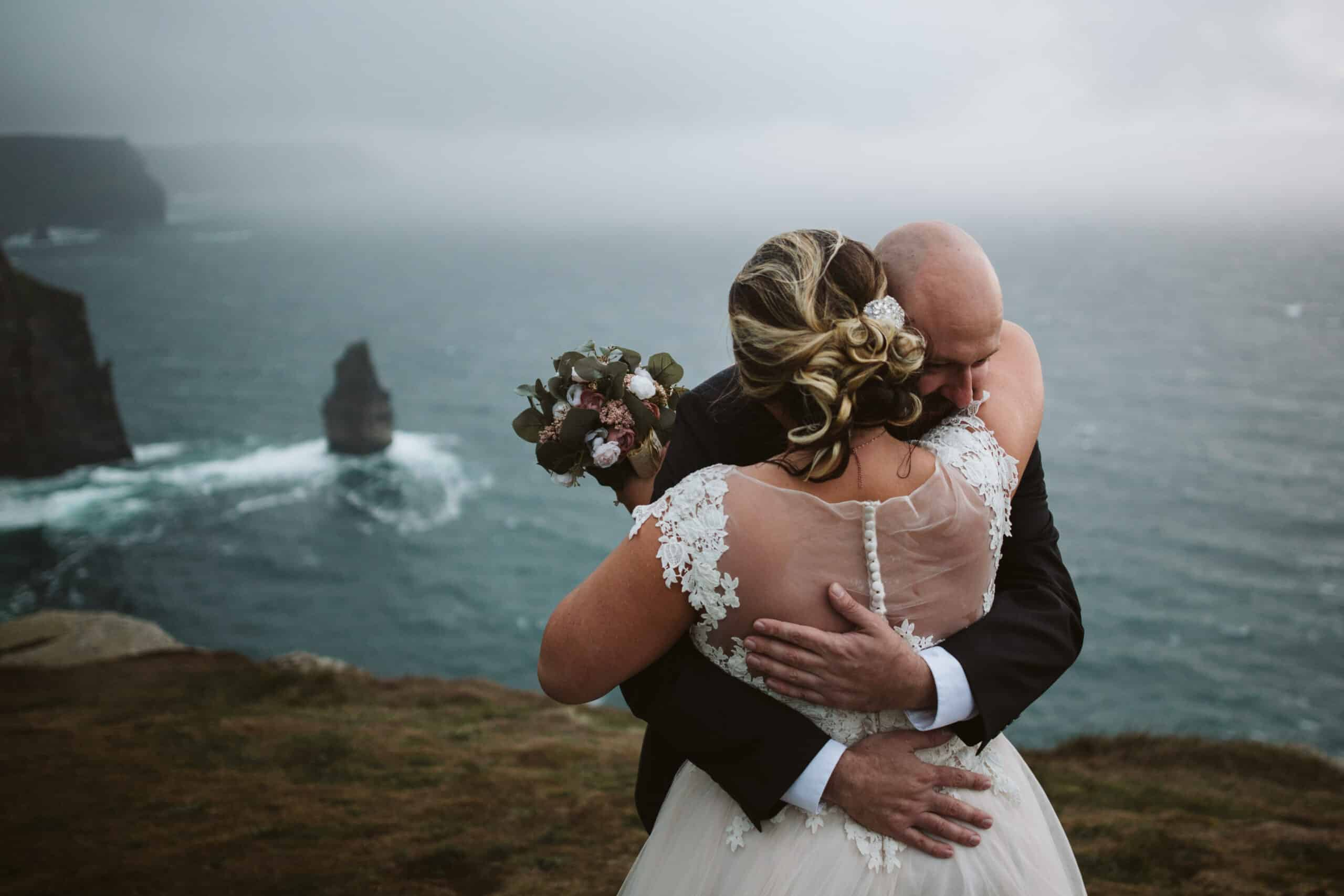 Cliffs of Moher Wedding Hags head, another hug