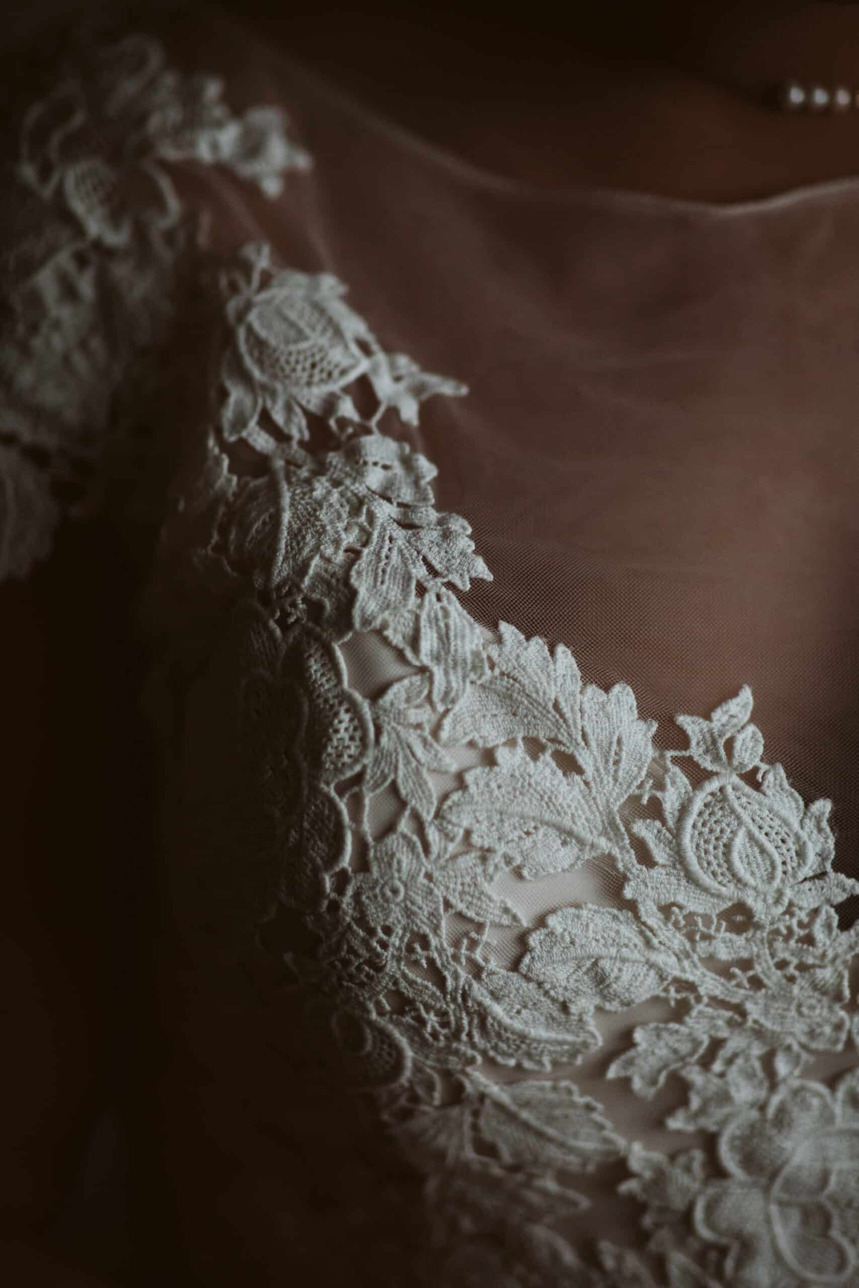 Cliffs of Moher Wedding Hags head , lace detail on wedding dress