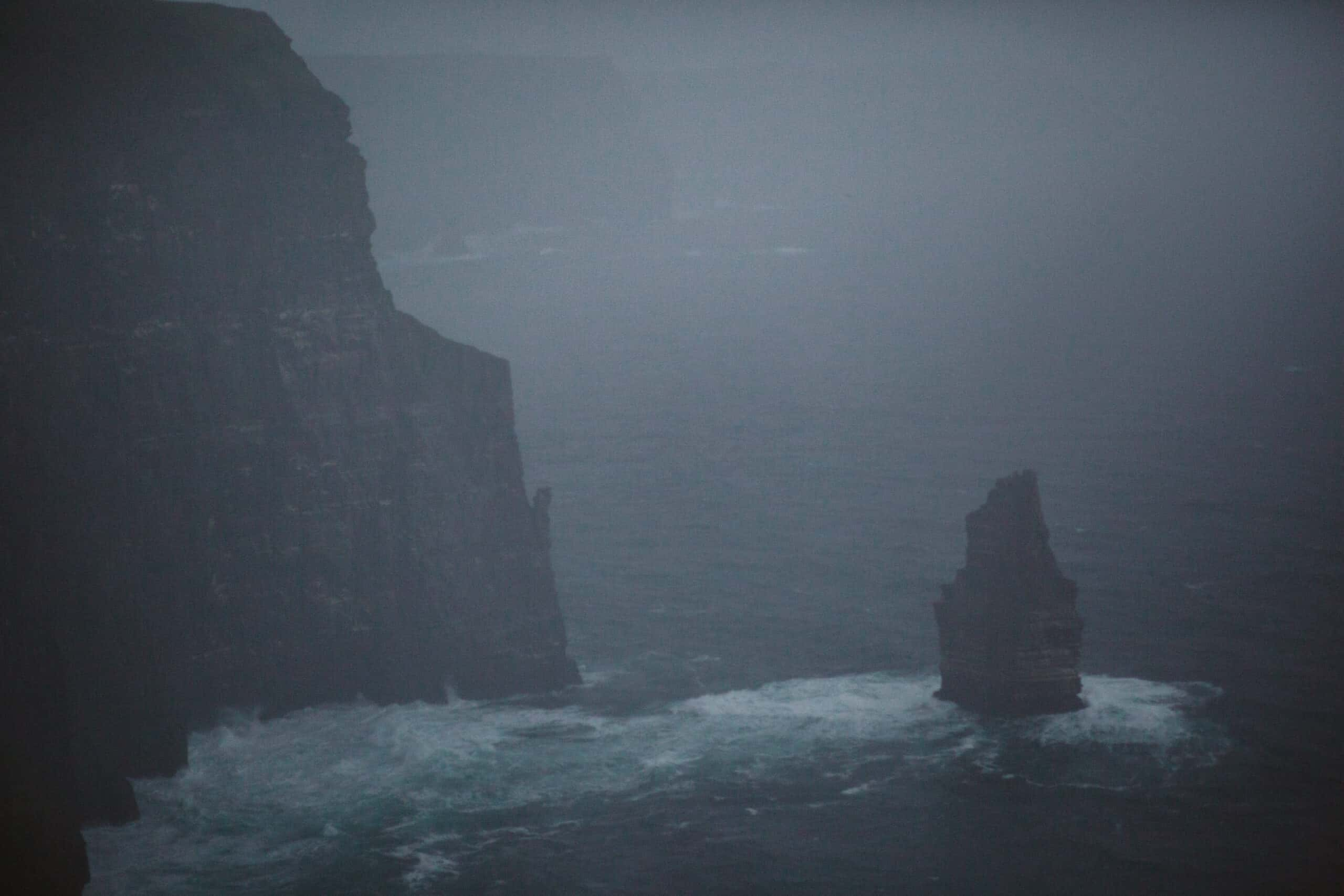 Cliffs of Moher Wedding Hags head, misty shot of the cliffs