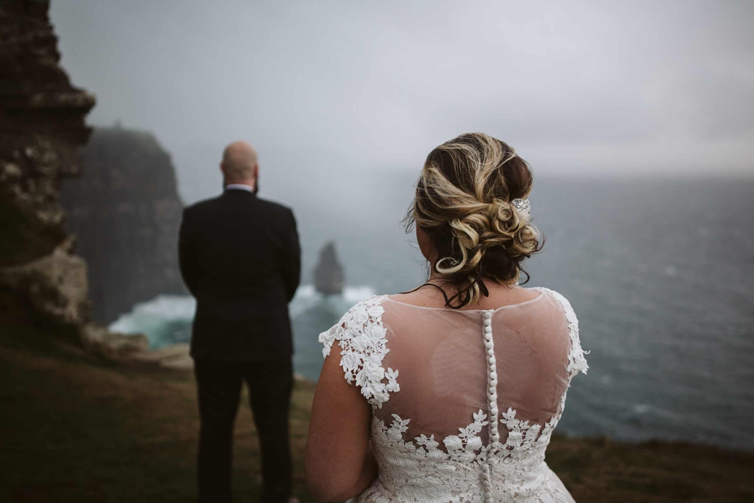 Cliffs of Moher Wedding Hags head, before the first look