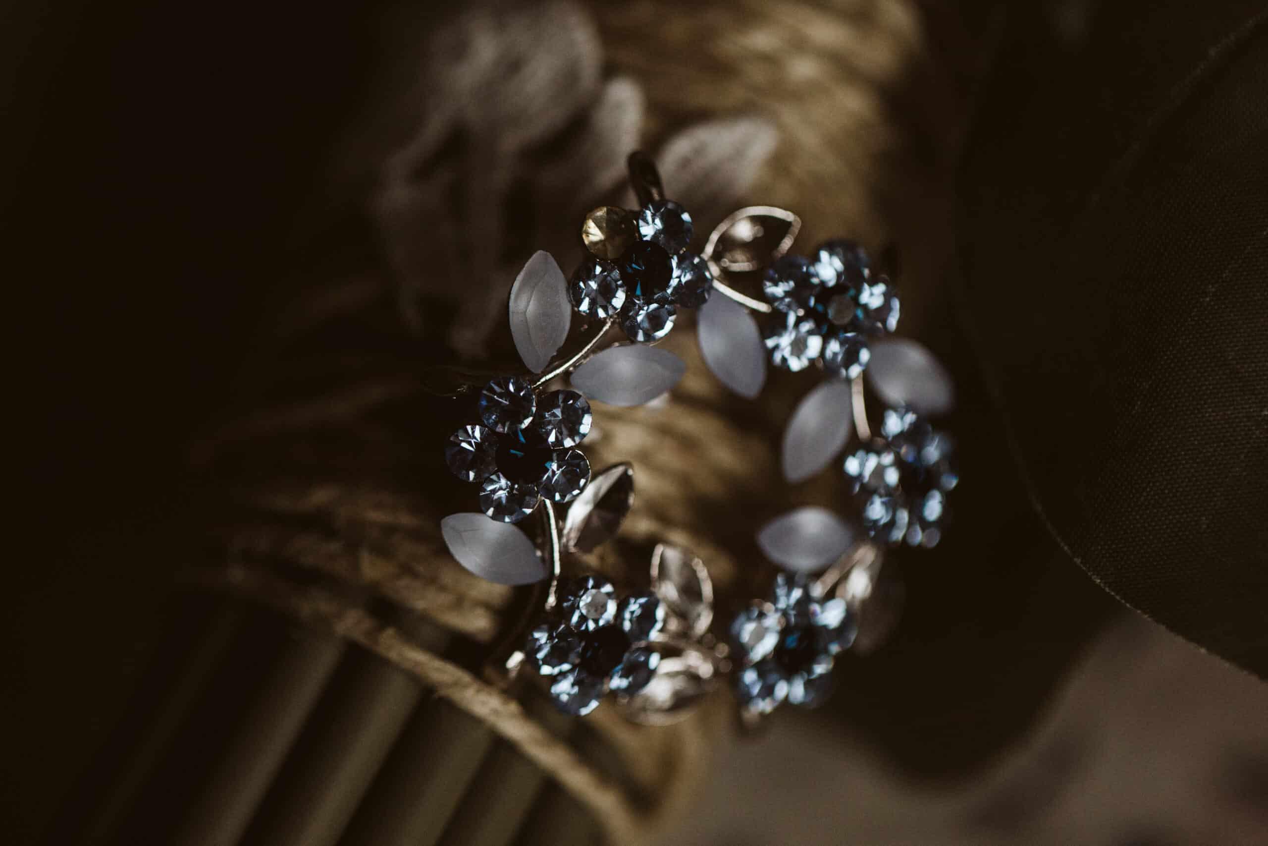 Cliffs of Moher Wedding Hags head, wedding brooch with blue stones