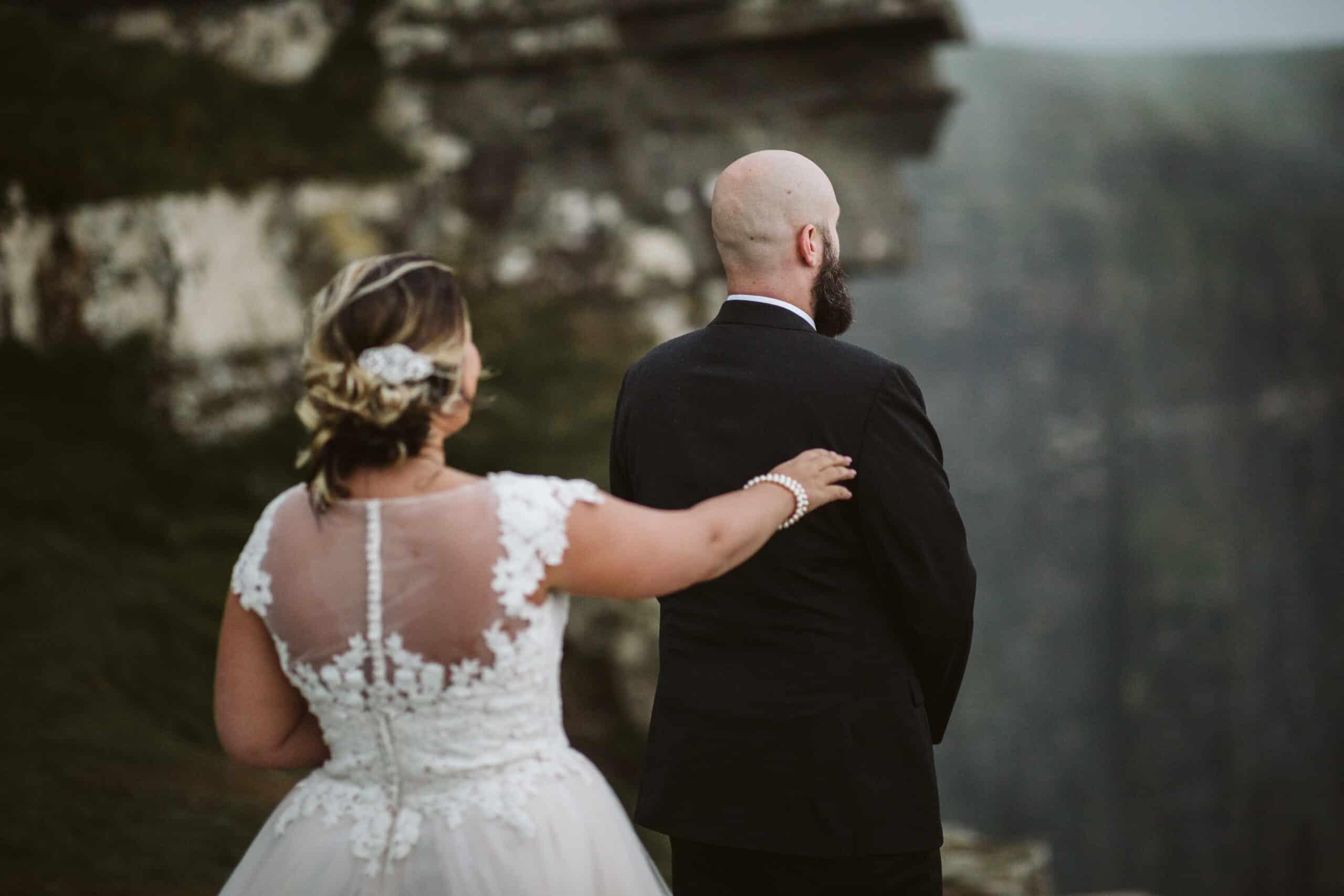 Cliffs of Moher Wedding Hags head, bride taps groom on the shoulder