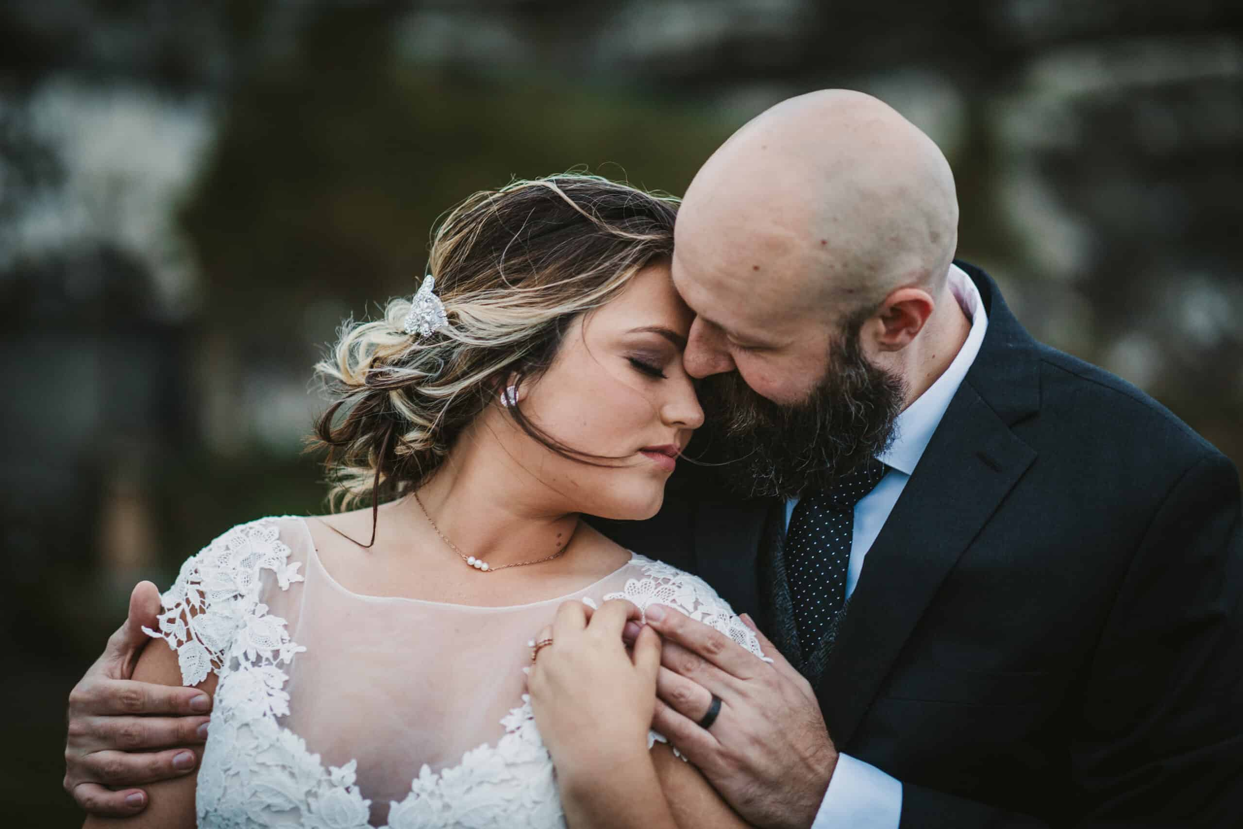 Cliffs of Moher Wedding Hags head, emotional photo of bride and groom