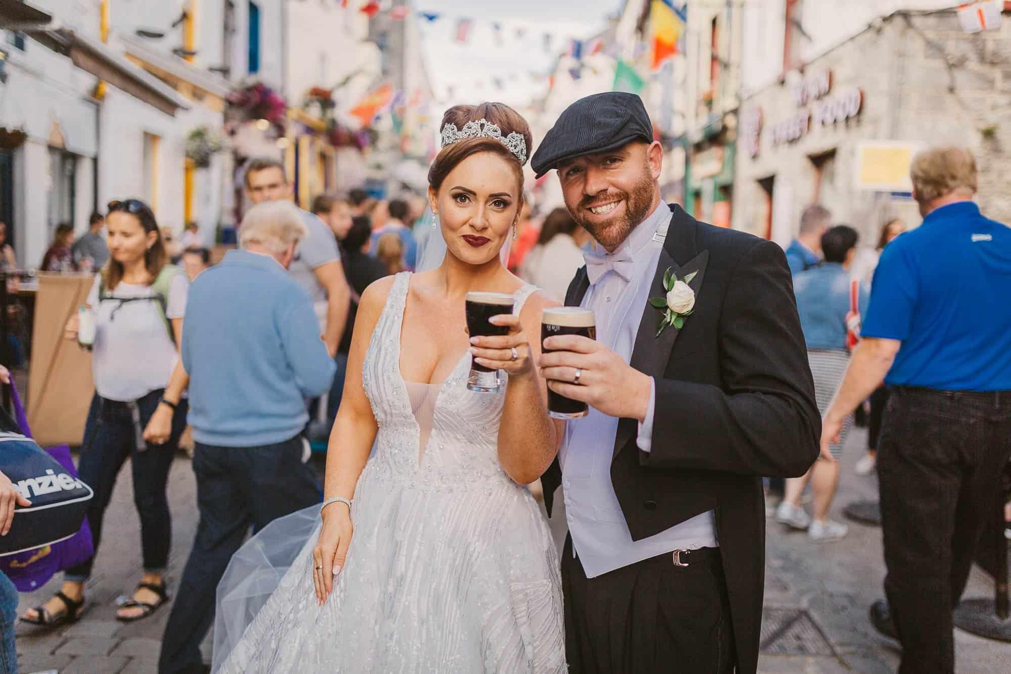 Wedding photography Ireland Bride Drink