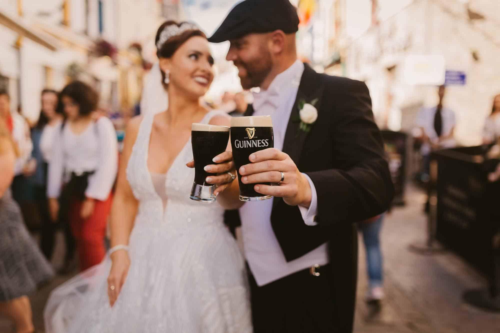 Wedding photography Ireland Cheers