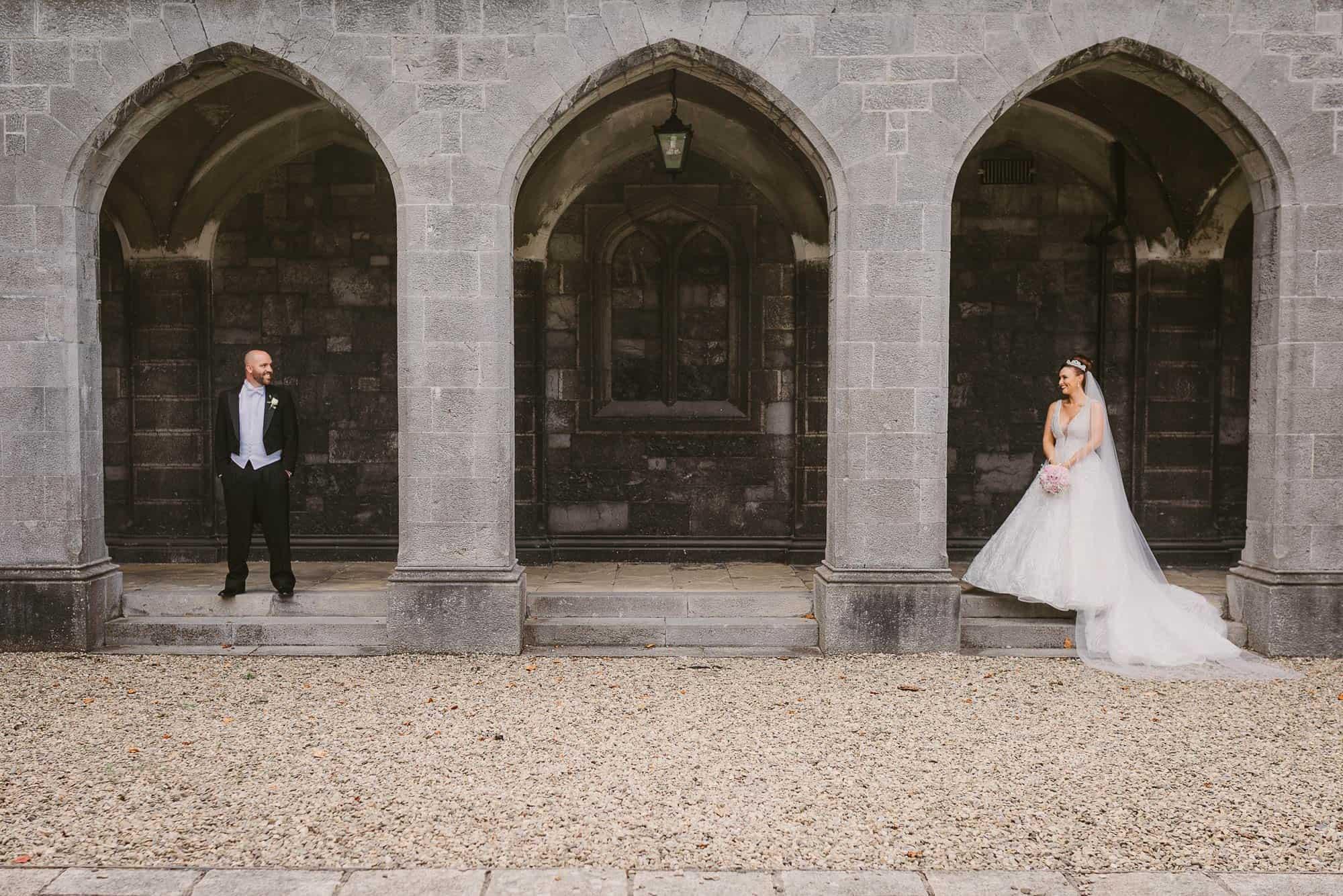 Wedding photography Ireland Couple Arches