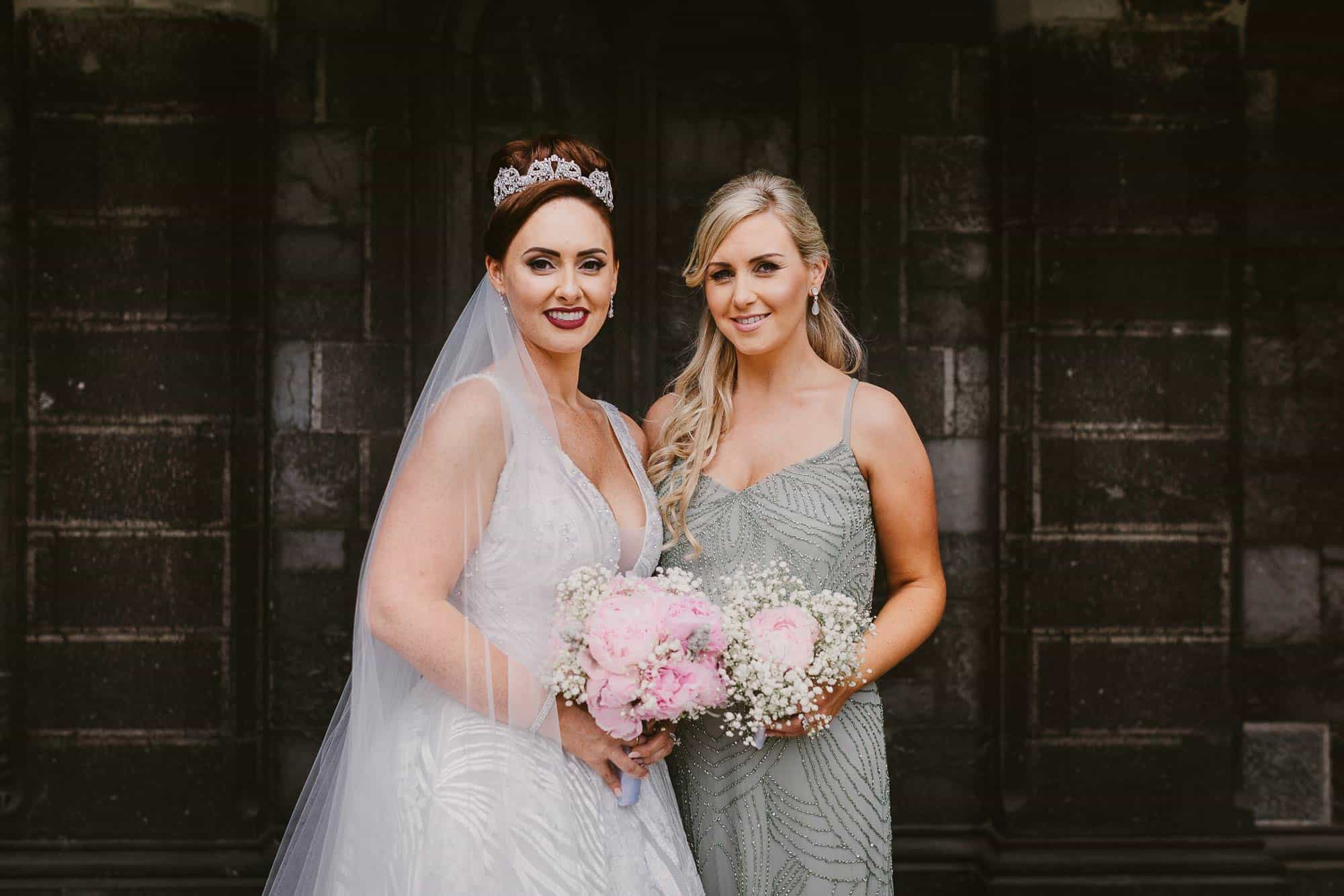 Wedding photography Ireland Green Bridesmaids Dress
