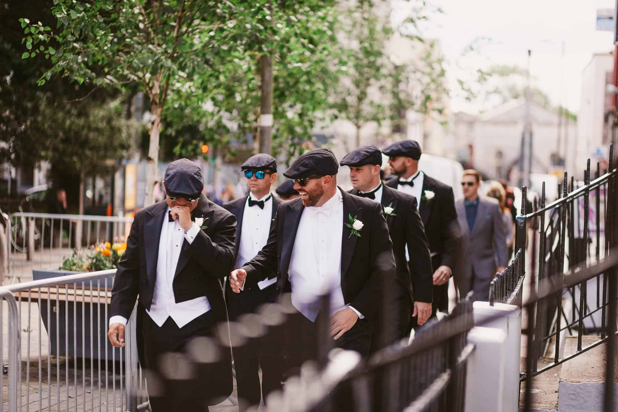 Wedding photography Ireland Groomsmen Fun