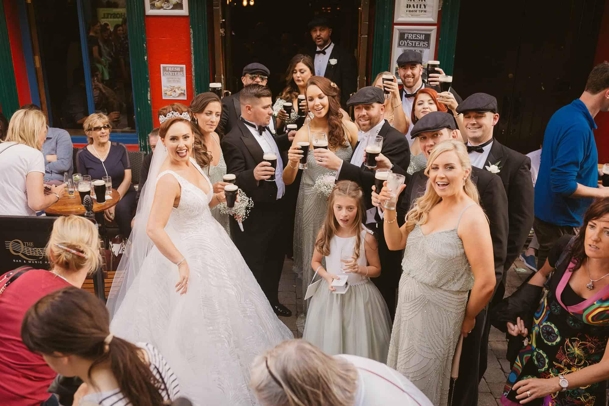 Wedding photography Ireland Irish Pub Fun